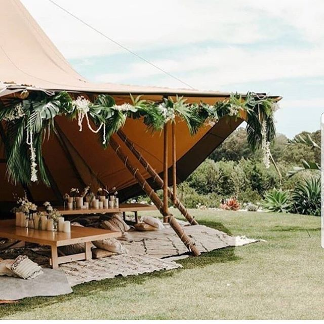 Another great setup by @theeventslounge. Such a cosy space!! - - @larahotzphotography @poppyandfernflowers  @byronbaytipiweddings