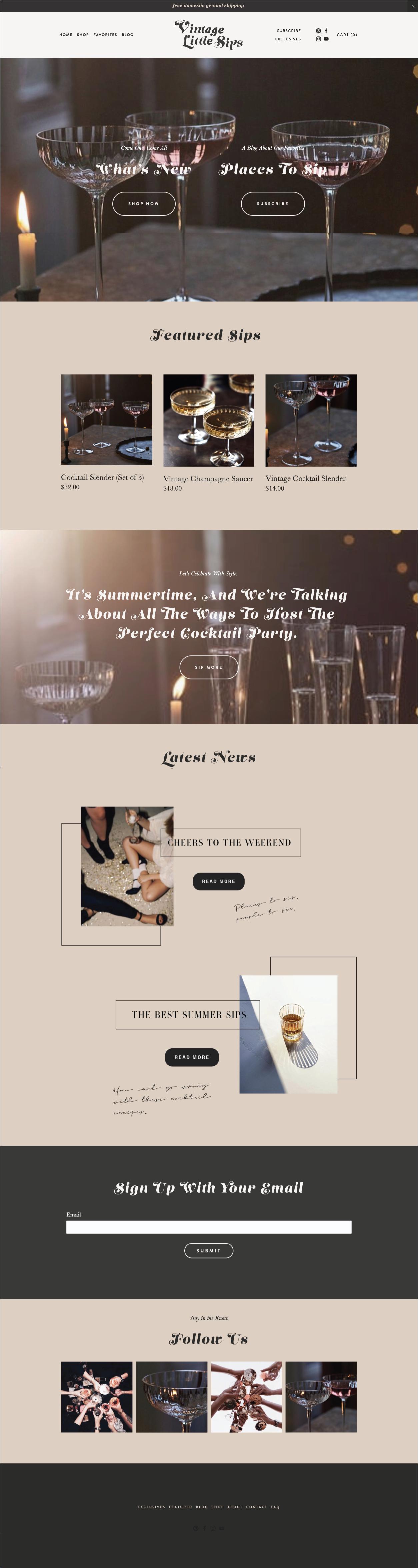 Website Design | Vintage Little Sips