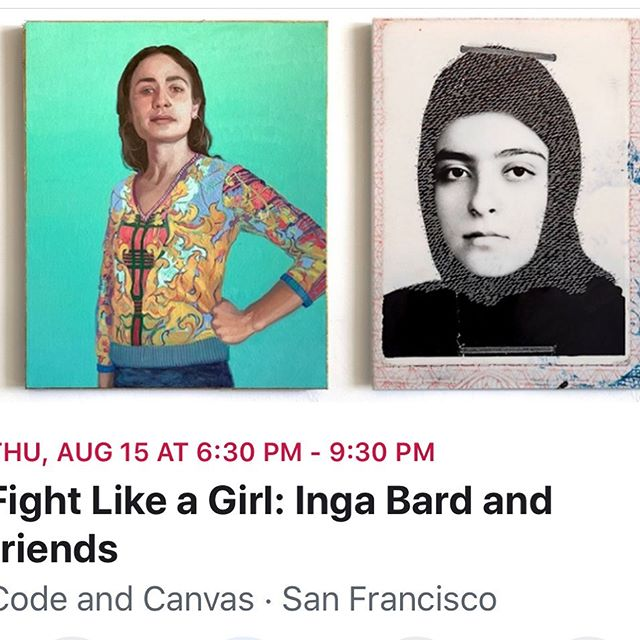 """Fight Like a Girl"" is an art event that imagines what it would be like if women were empowered and amplified rather than objectified by culture.  The show will feature a new series of paintings by @ingabard , photo installations by Nasim Moghadam as well as performances by Ana Rivers, Thomas Van Hout, an all womxn artists dj set by Matt Haze Kaftor and an acoustic set by the amazing Rachel Lark!  Aug 15, 6:30 pm to 9:30 pm  Code and Canvas  151 Potrero Ave San Francisco, California 94103  #visualart #sfaialumni #bayareaartist #photoinstallation #femenistart #femaleartist #photography📷"