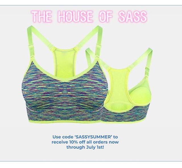 Summer is here, get your sassy gear! 💛#sassy #sports #bra #sportsbra #fitness #workout #promo #code #discount #freeshipping #seamless #lift #strength #cardio #yoga #dance #gymnastics #fit #fitspo #workoutgear #summer #body #bod #femme #bodyposi #support #ecommerce #discountcode #sass #thehouseofsass