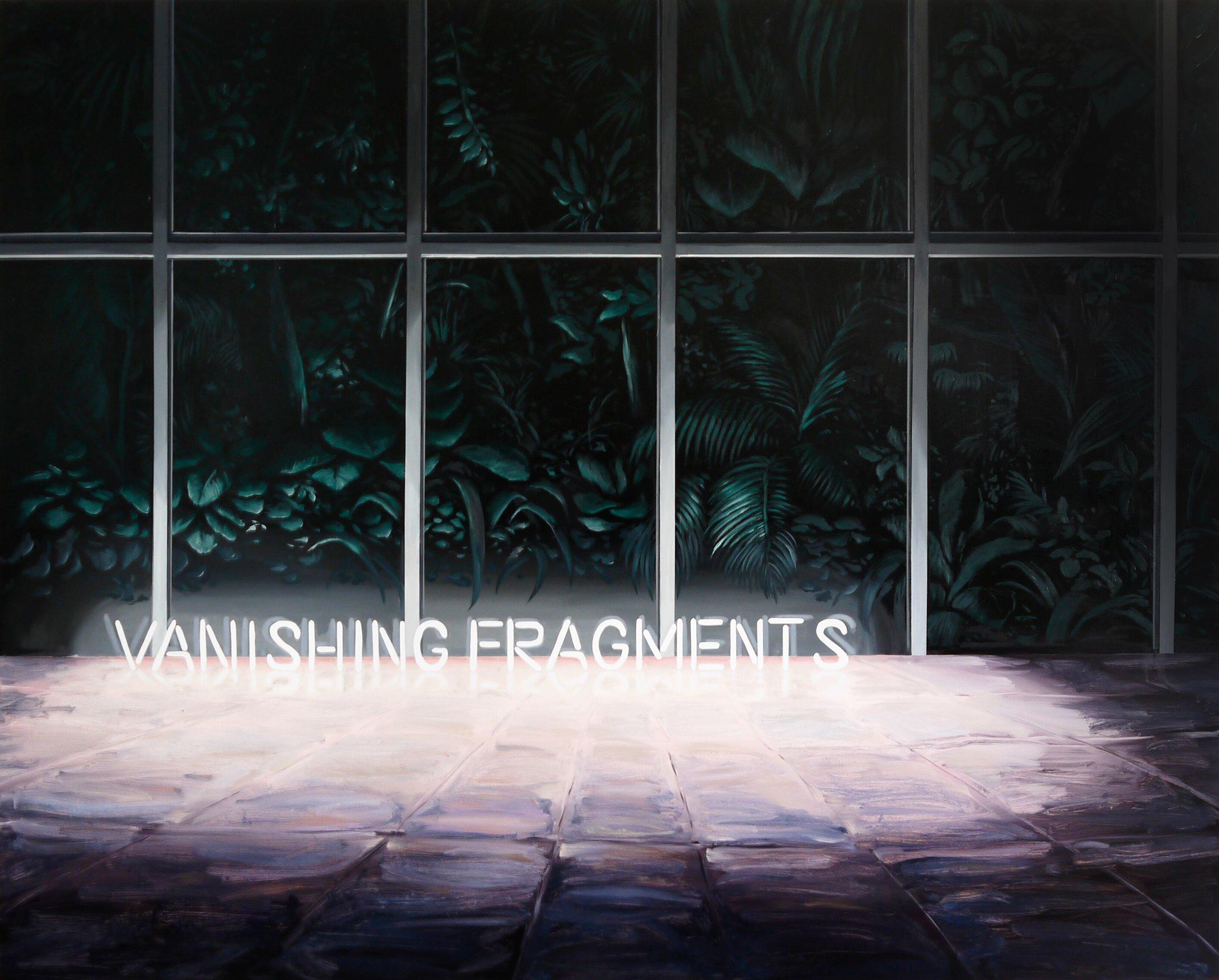 Vanishing Fragments  (2019), oil on canvas, 130 x 162 cm