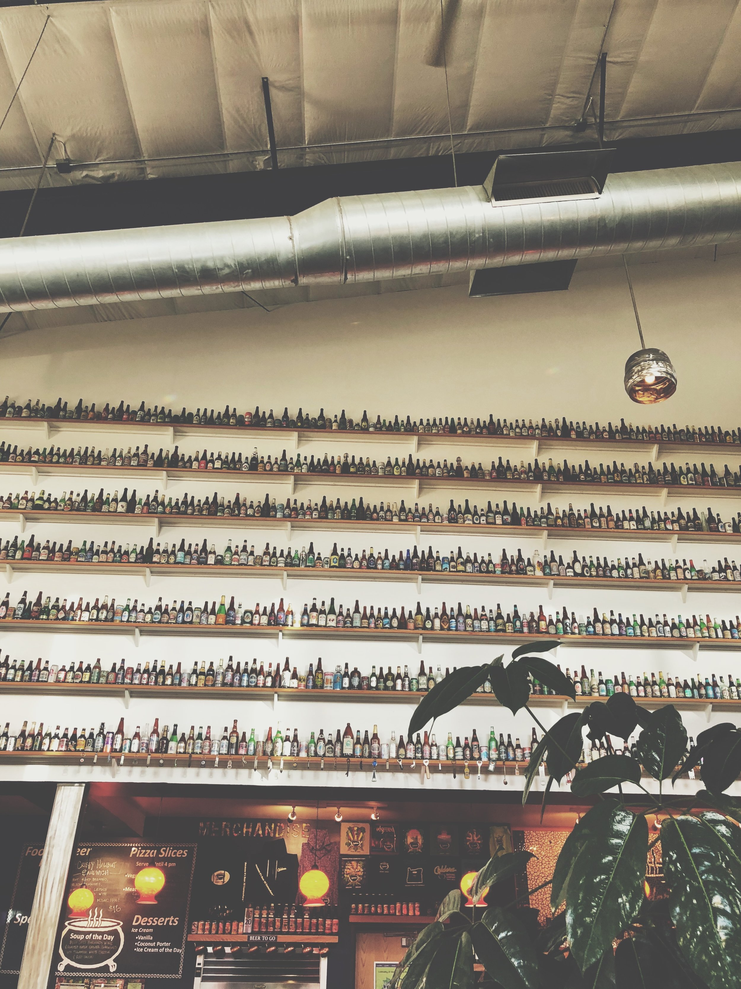 First night was spent at Caldera Brewing. I loved all the beer bottles lining the walls.