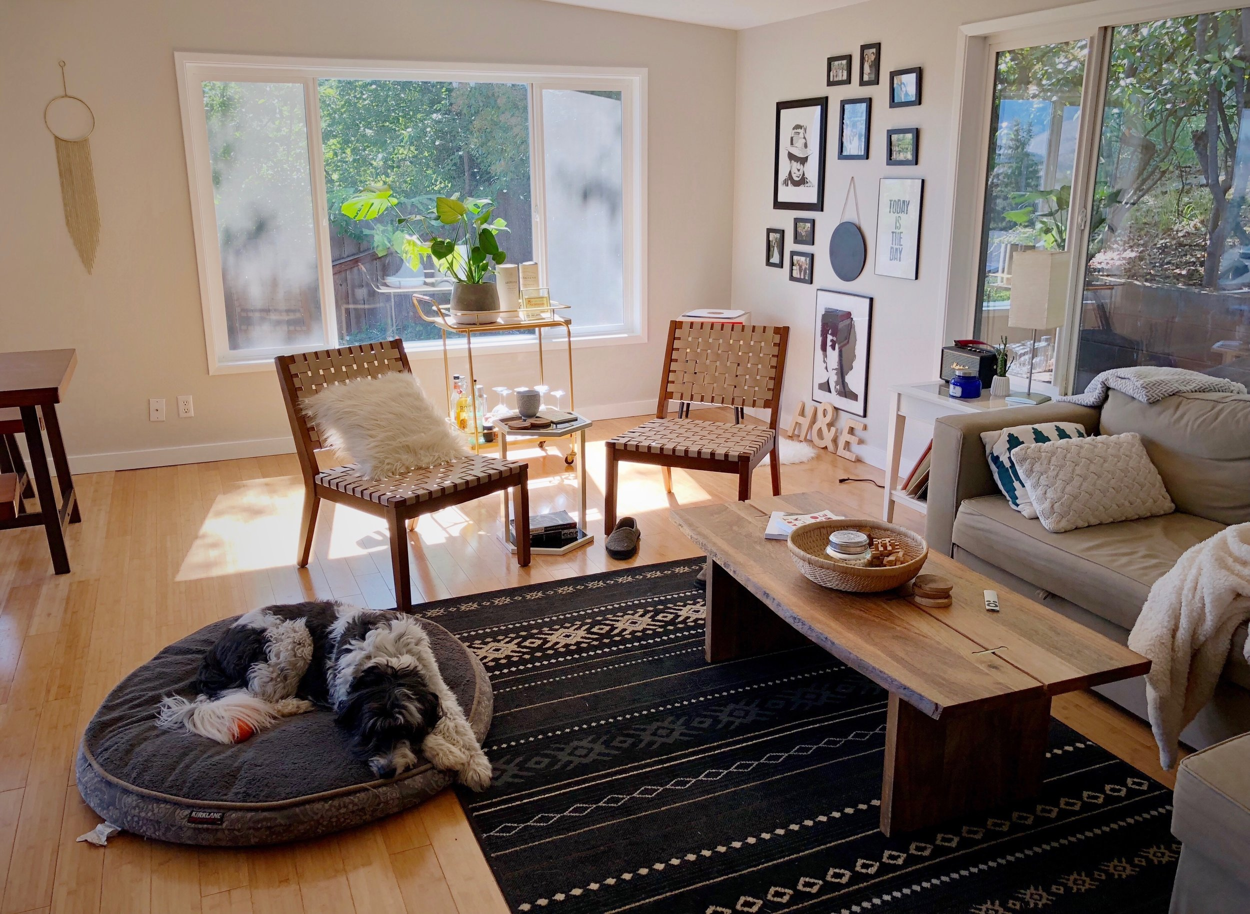 This house! So much natural light. Perfect for a lazy early morning with Tabor.