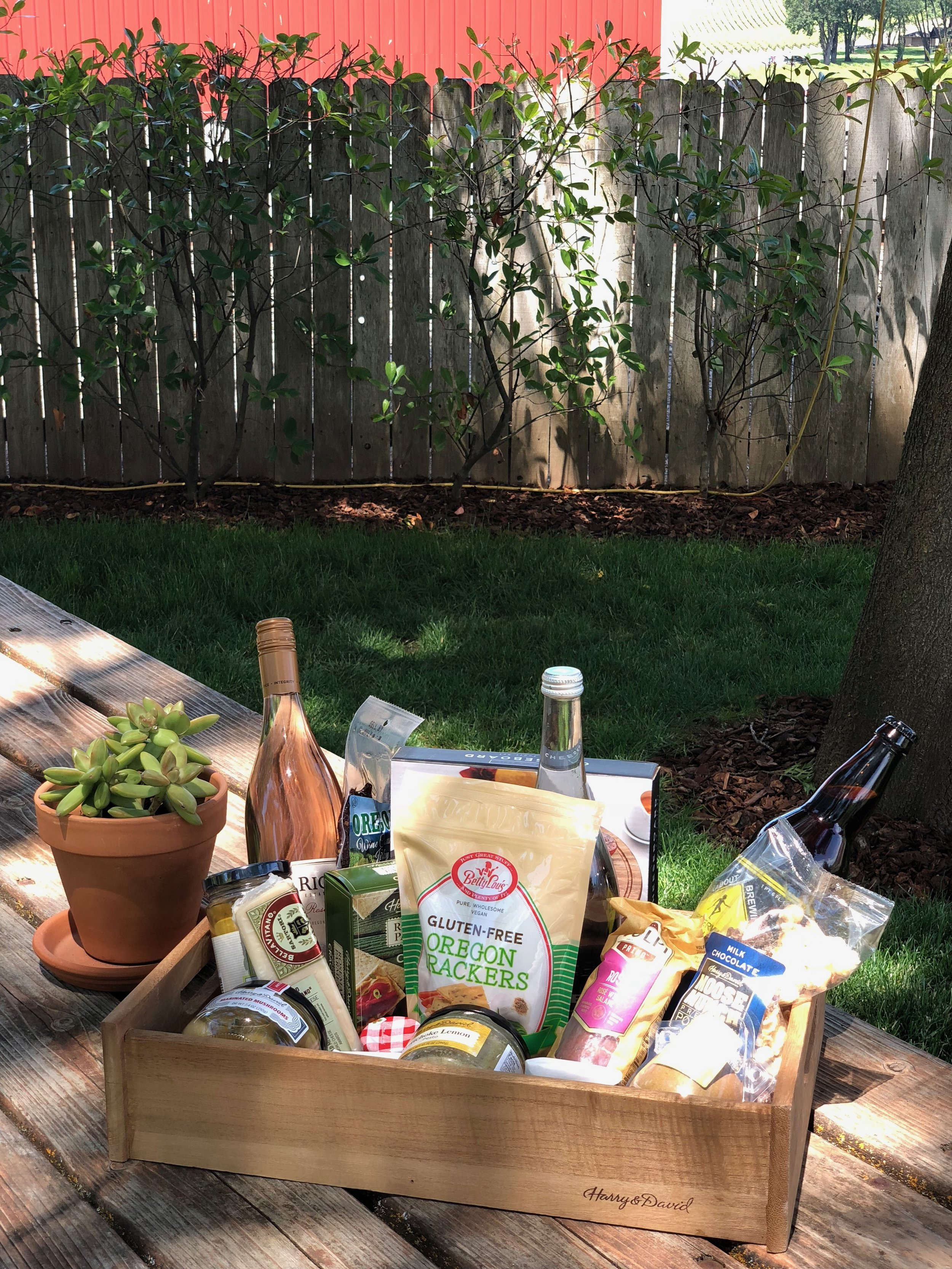I was completley overwhelmed by this basket of goodies! Everything is locally made from Southern Oregon and I got to enjoy it at Del Rio Vineyards, a beautiful winery located right on the Rogue River.