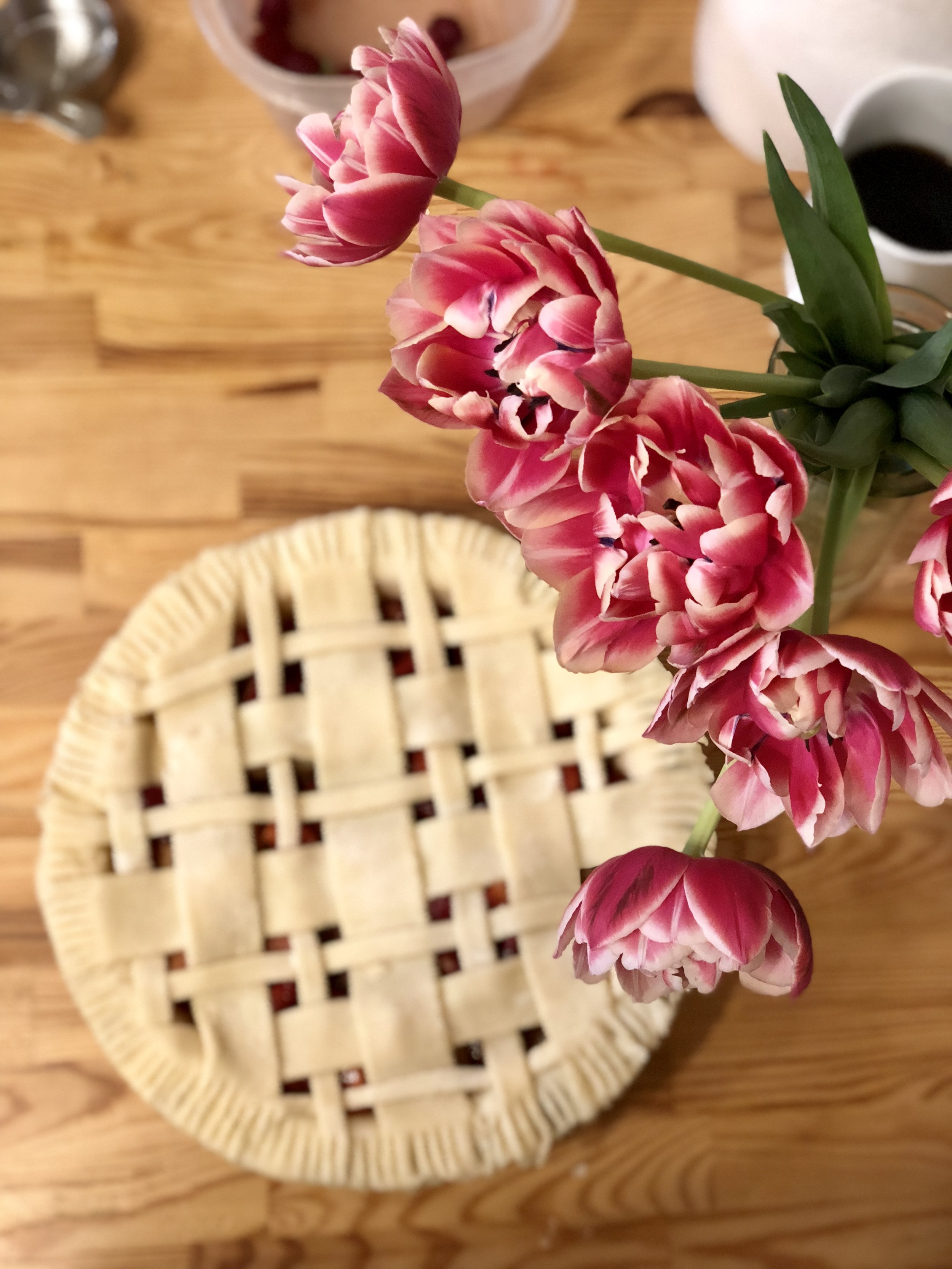 .... that turned into the most delciious (and beautiful) pie.