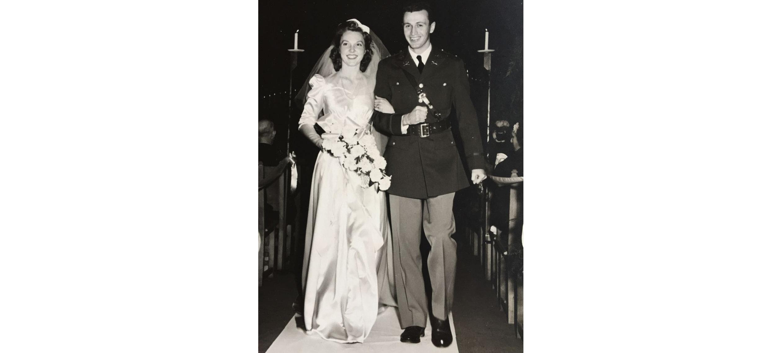 Margaret Howe McCaffery's wedding in 1942, Beverly Hills, California.