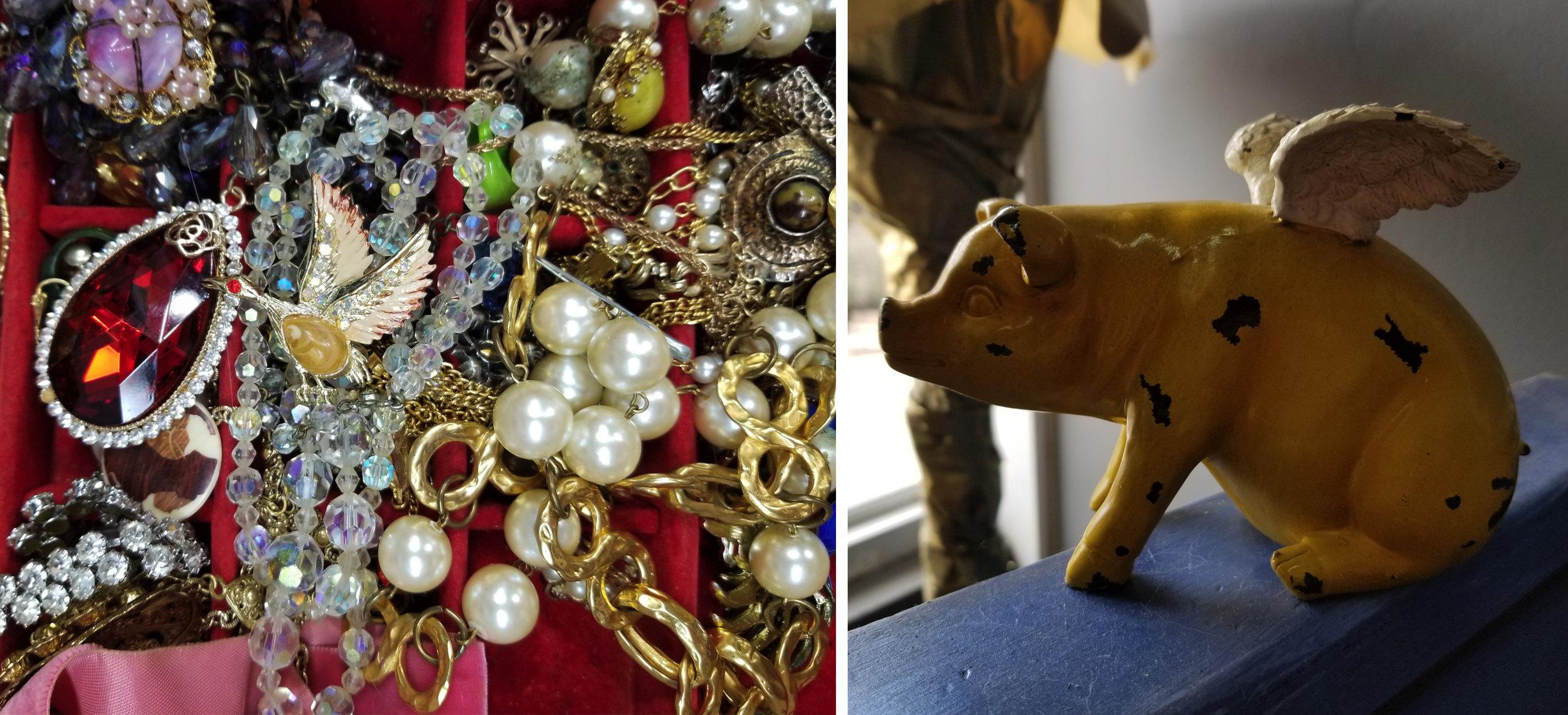 Grandma's Jewellery & The Flying Pig
