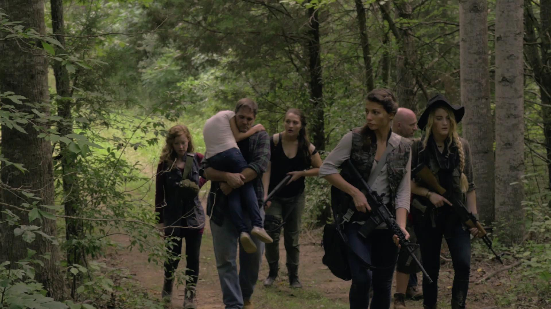 DAILY BREAD - (dir: Nina May/USA/7 min)Seven millennial women, the cast and crew of a cooking show, are stranded on a farm when a solar flares strands them. While they are clueless about what has happened, a prepper camp near by has been monitoring the flares and are ready… Check out this sizzle reel for the fantastic new post-apocalyptic series Daily Bread.