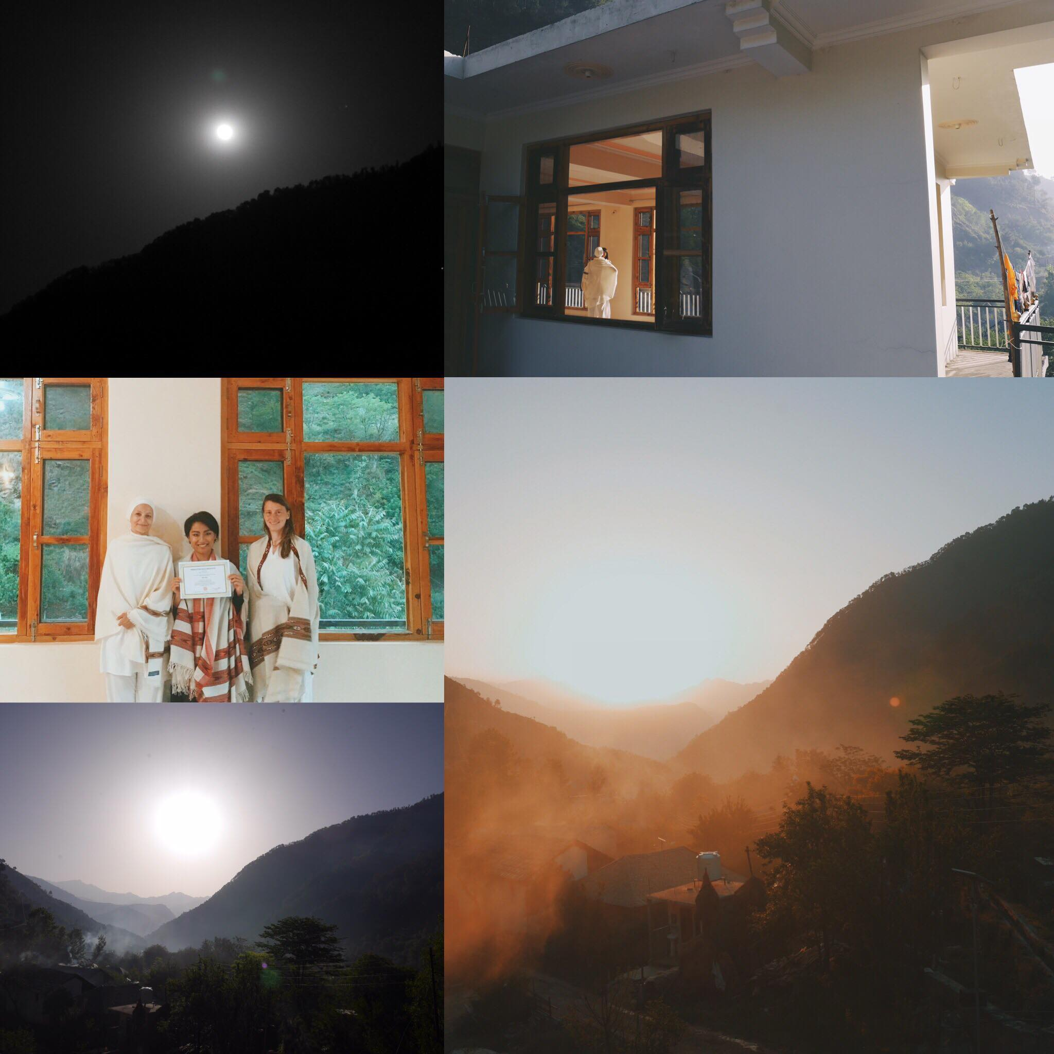 Yoga Alliance Certified 200 HR Teacher Training Course in India in front of the Himalaya Mountains  Everyday we woke up with a cold shower, meditated, chanted mantras and practiced yoga