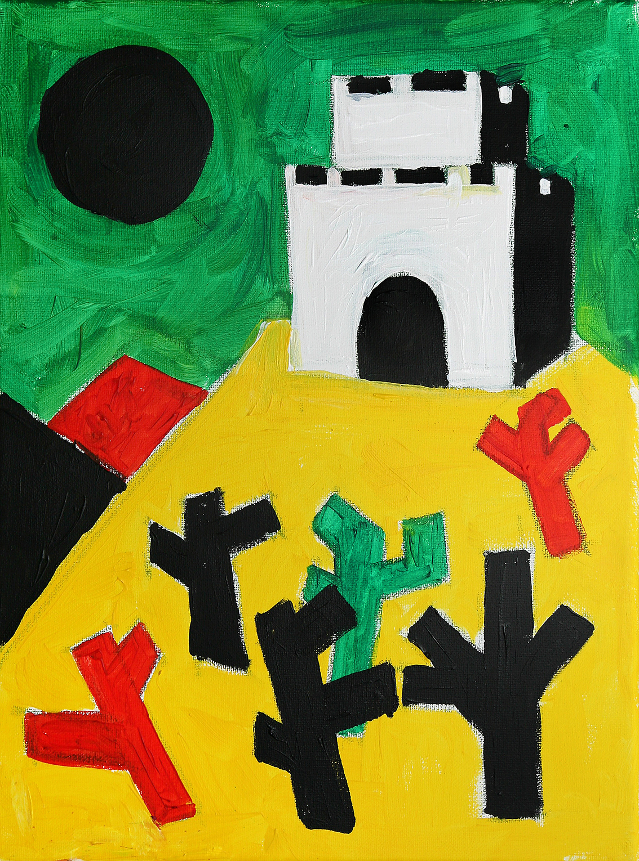 Spanish Castle  acrylic on canvas  £600