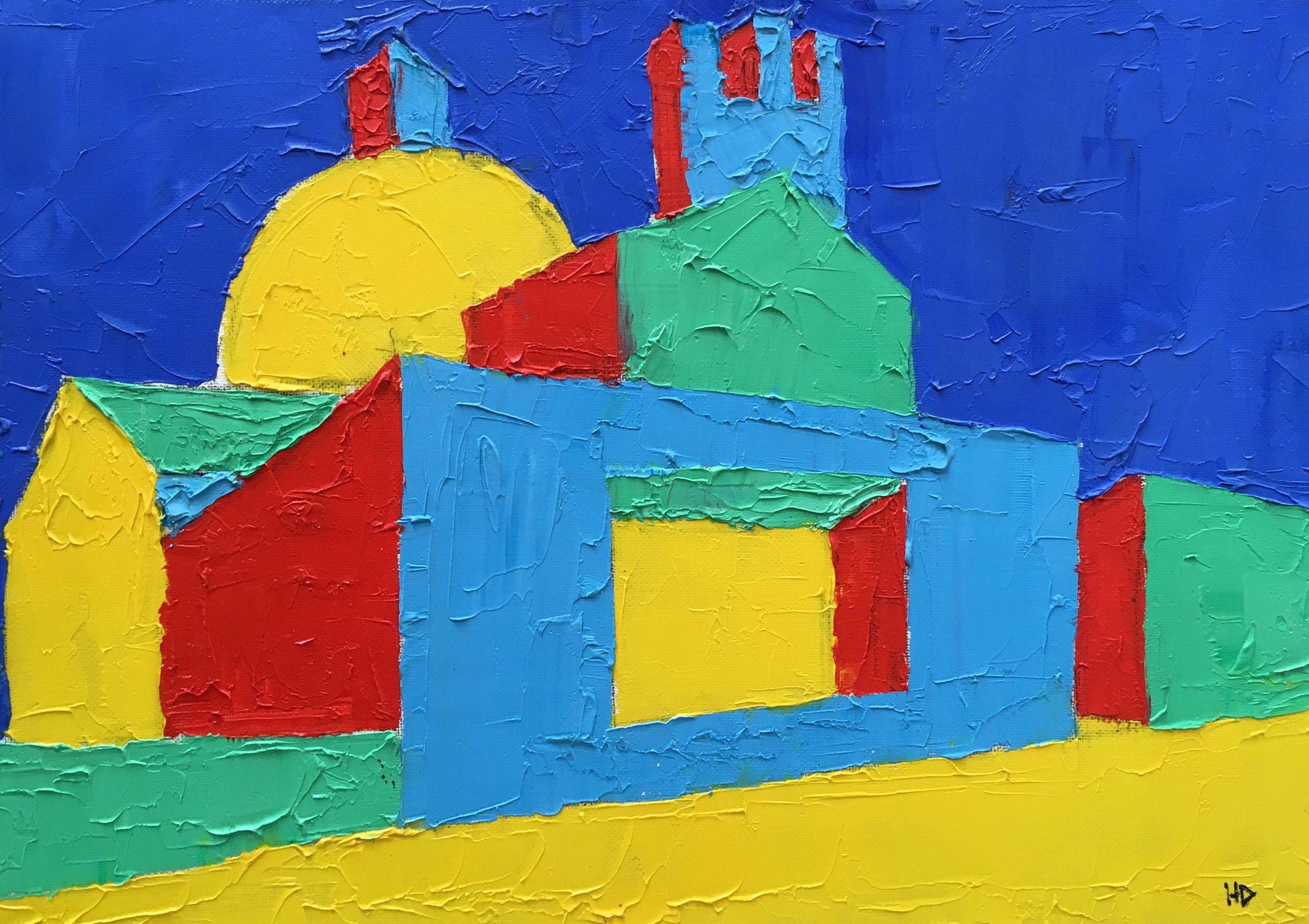 Brompton Oratory knightsbridge  oil on canvas  £600  30 by 40 by 1.5 cm  unframed