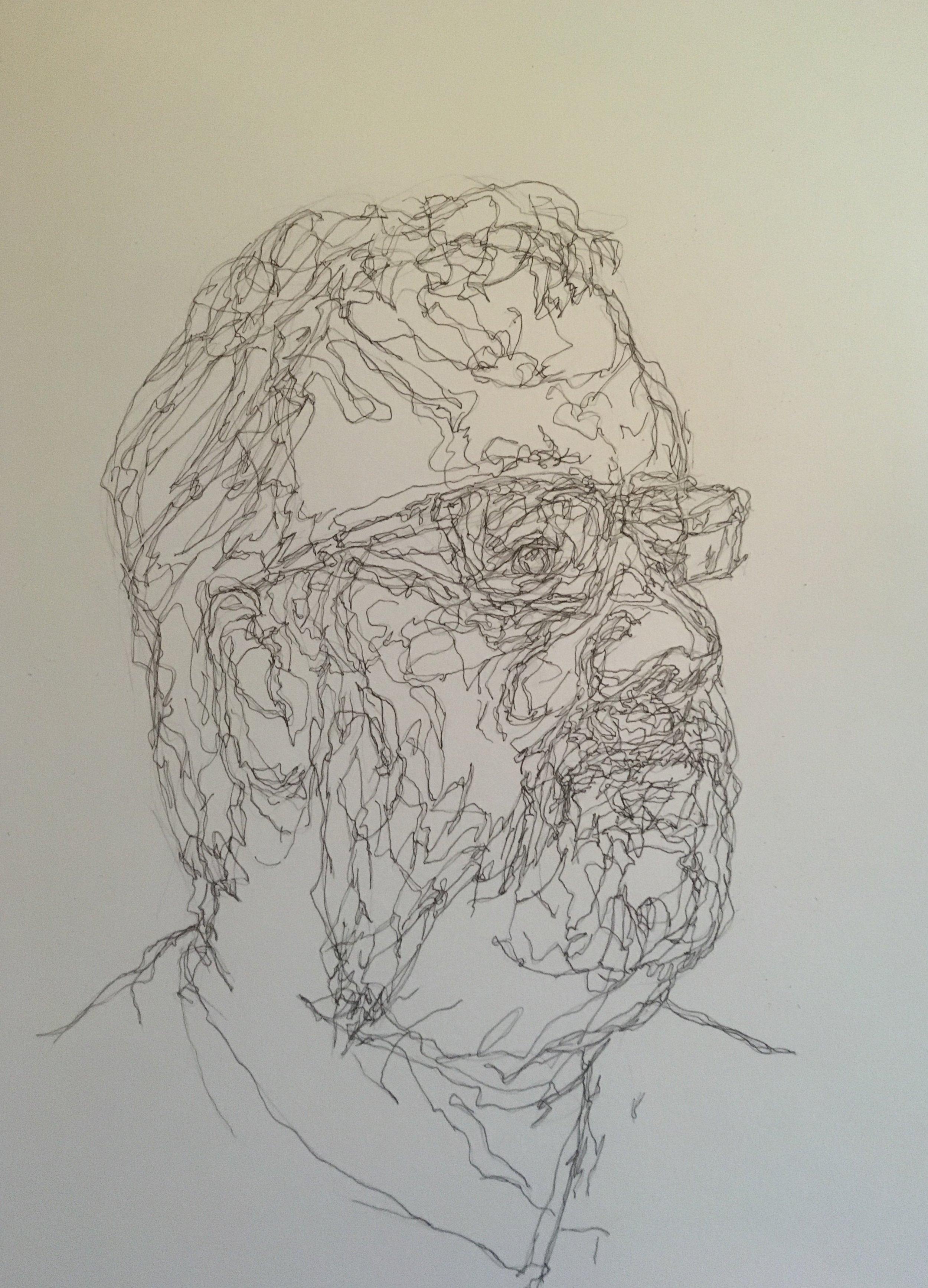 Portrait of Ranald Macdonald  pen and ink