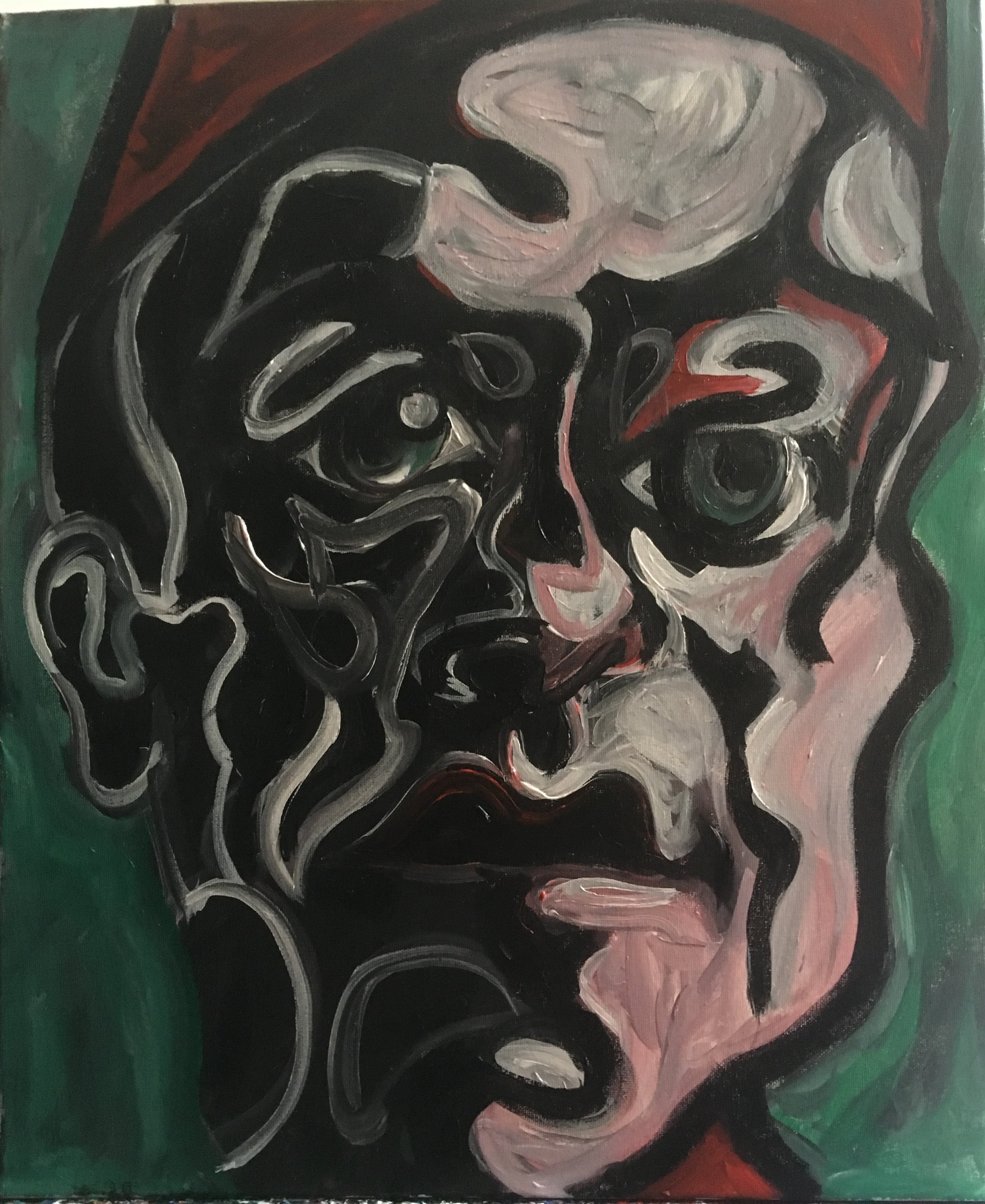 portrait of a friend  acrylic on canvas