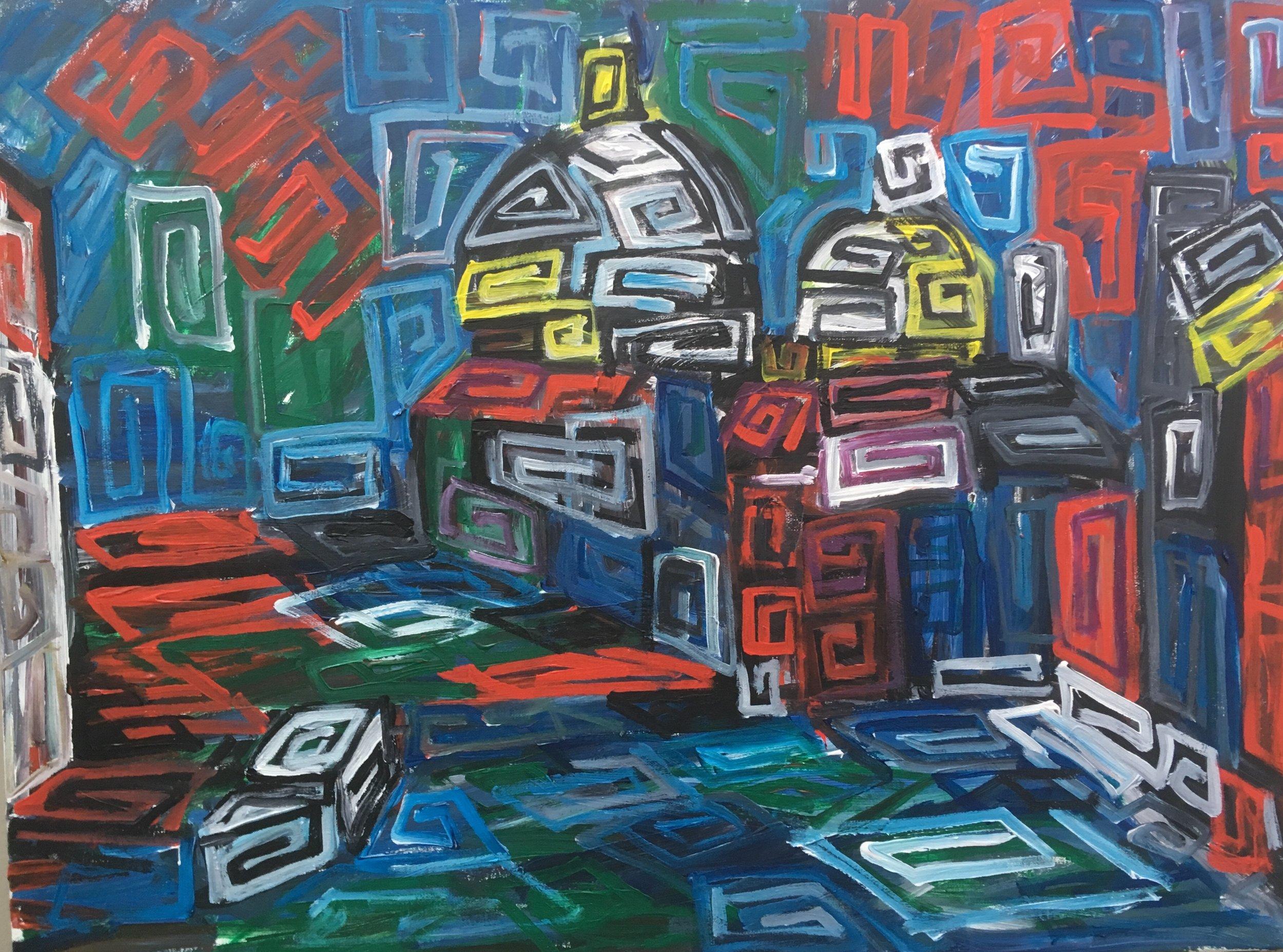 Vaporetto ,by the Salute Venice  Acrylic on canvas