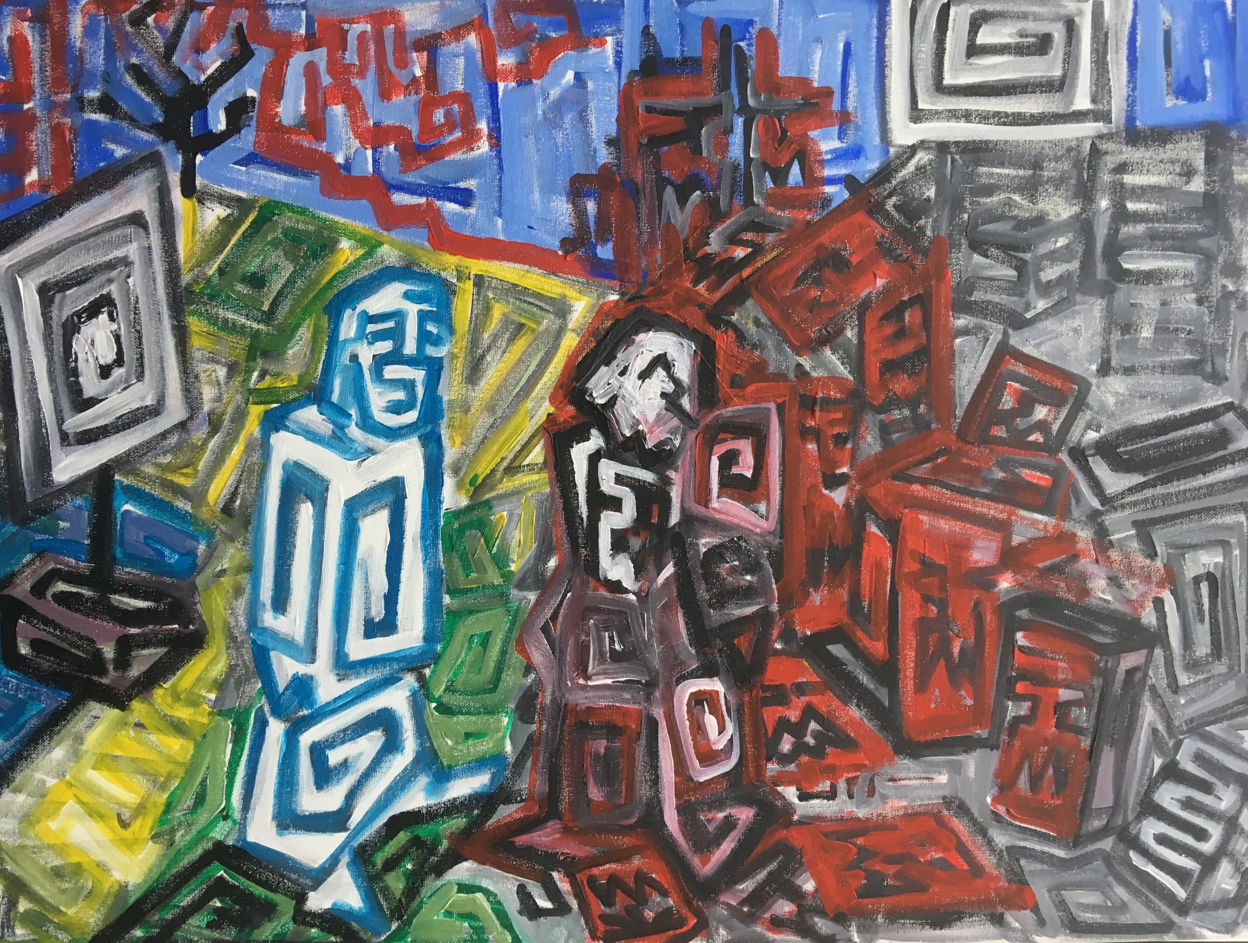 The healing of Legion  Acrylic on canvas