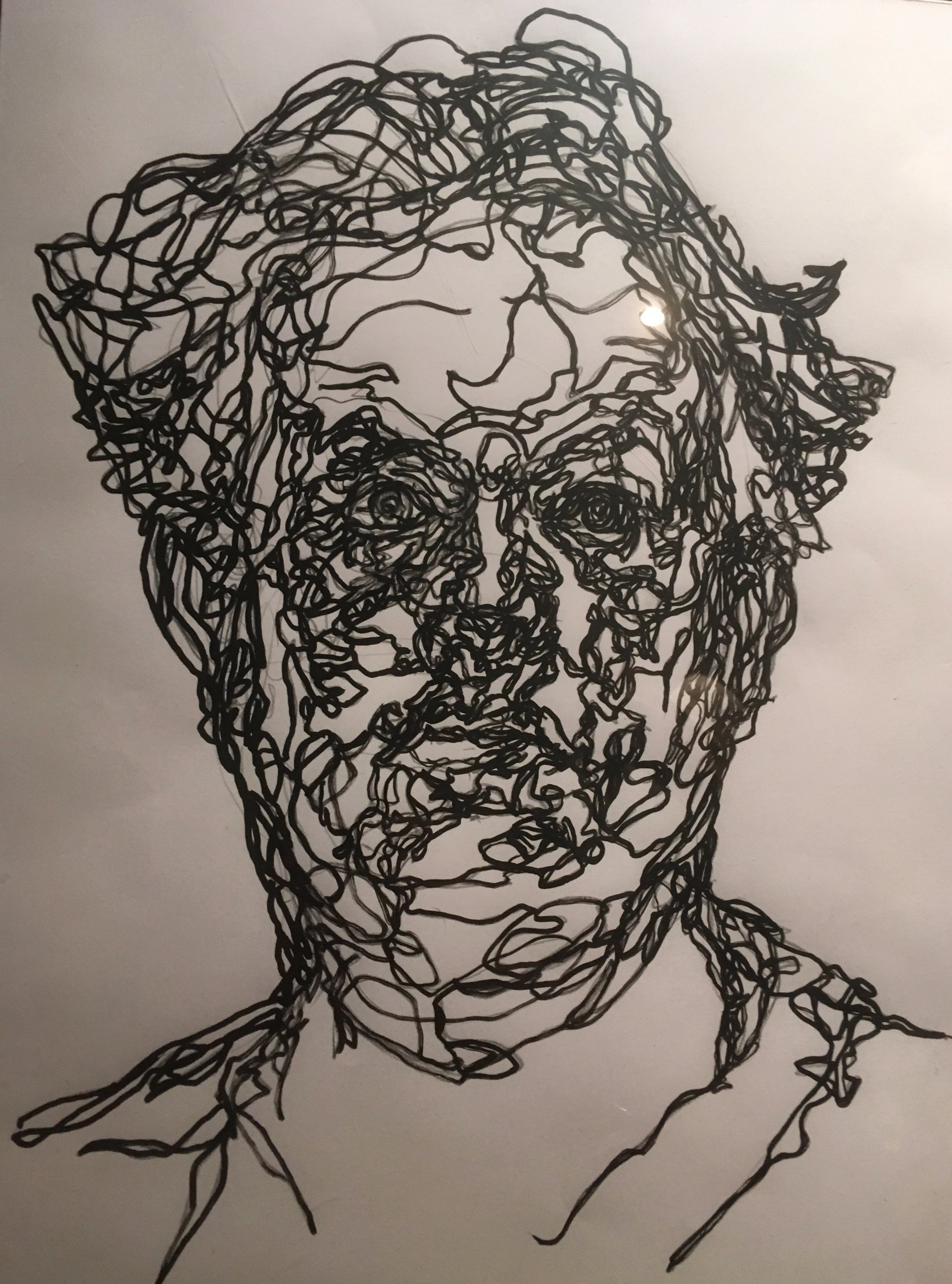self portrait  pen and ink
