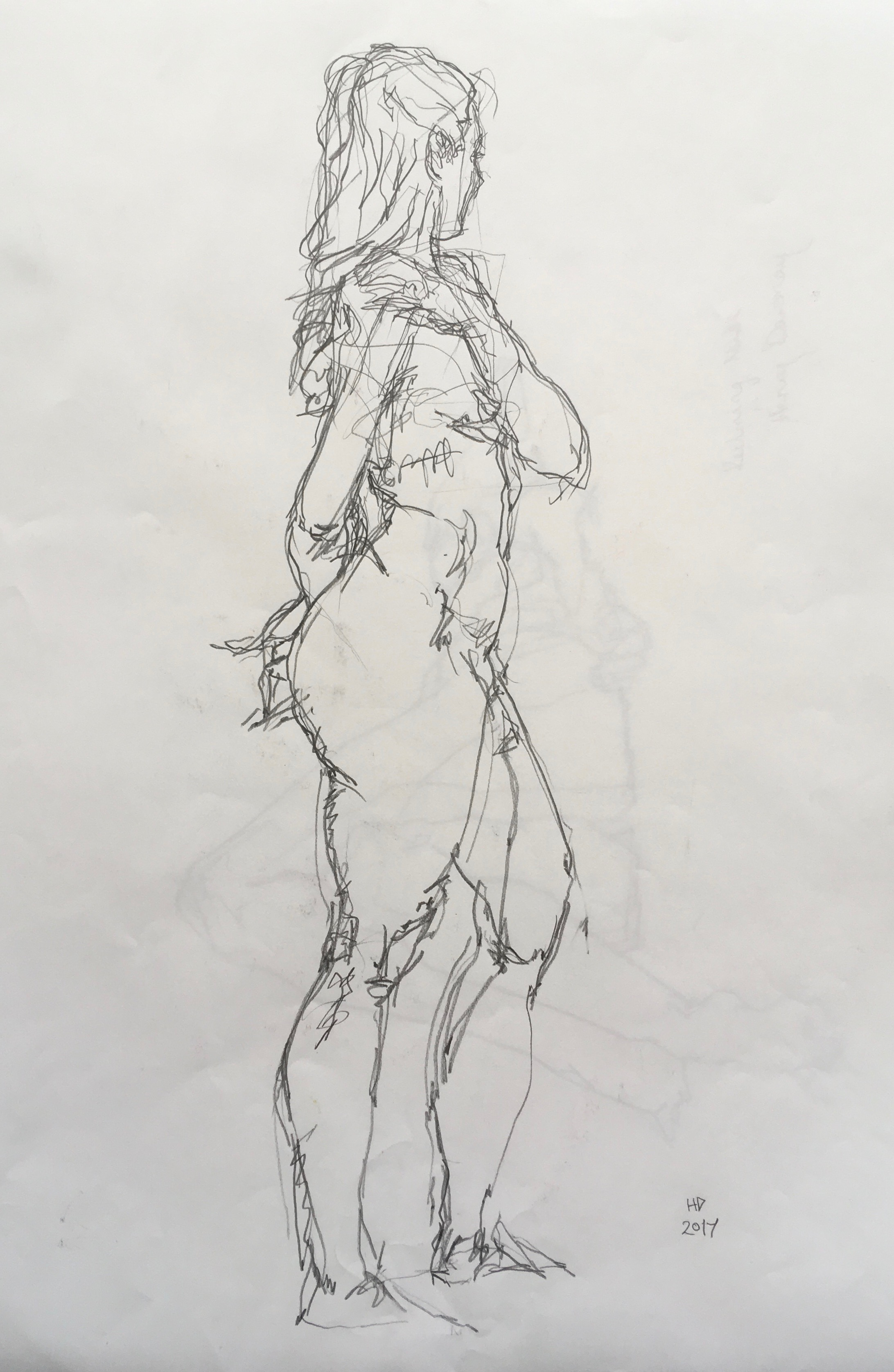 female nude  pencil on paper