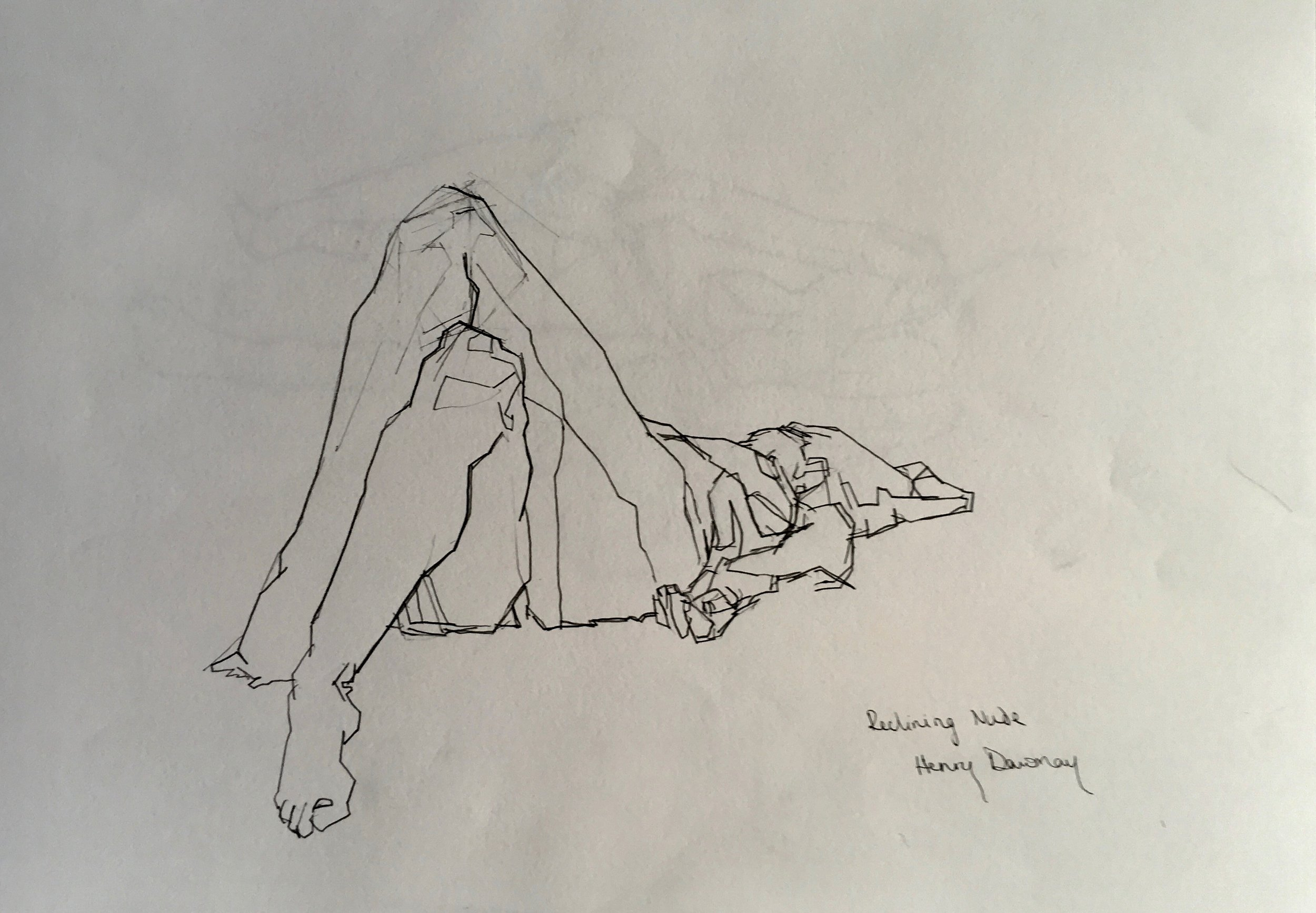 female lying down  pencil on paper