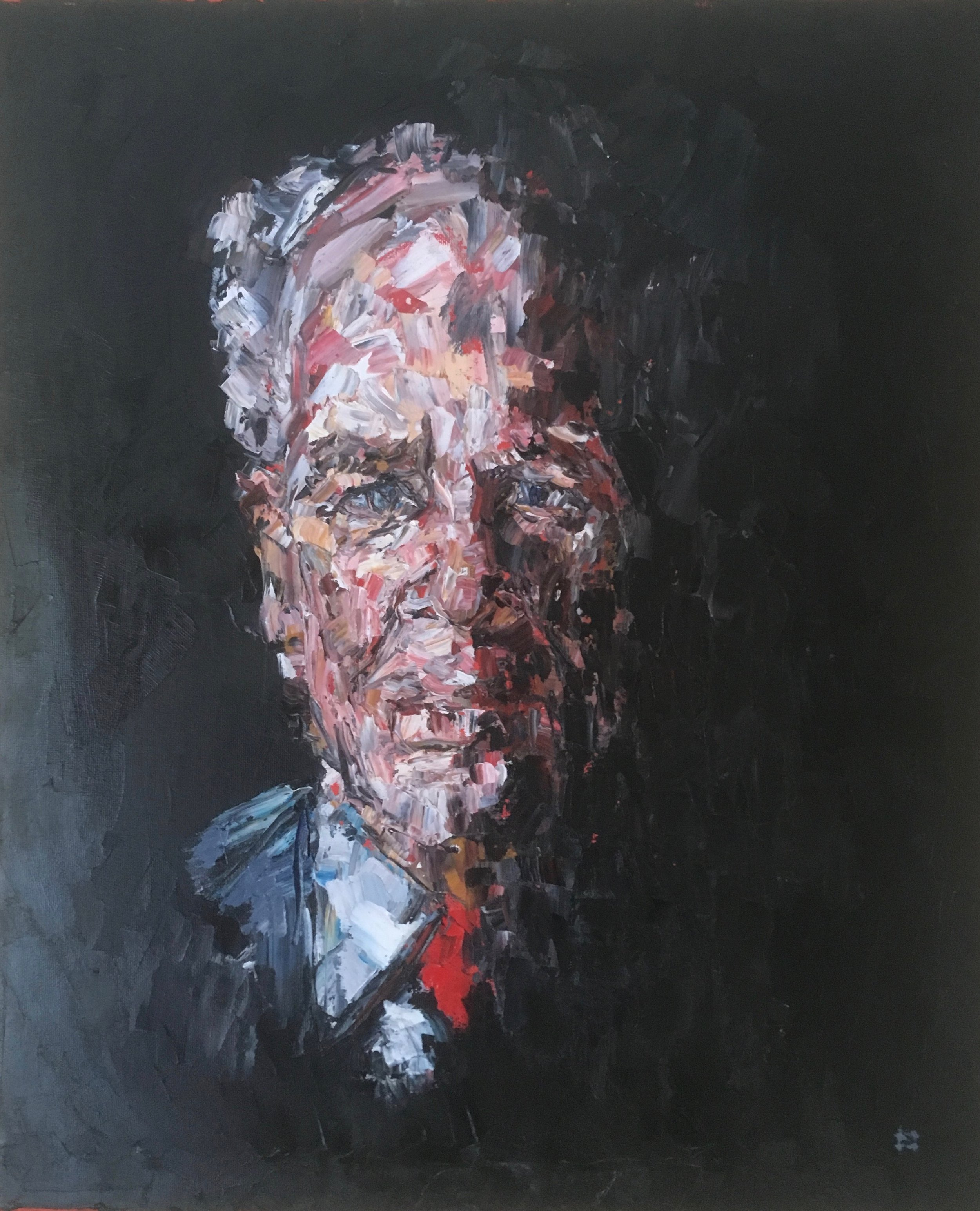Portrait of Mr Gray  oil on canvas  sold £500