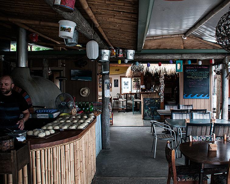 LUKE'S KITCHEN   20 Black Jack Rd, Kuaotunu   Rustic pizza joint with million dollar views over the bay.