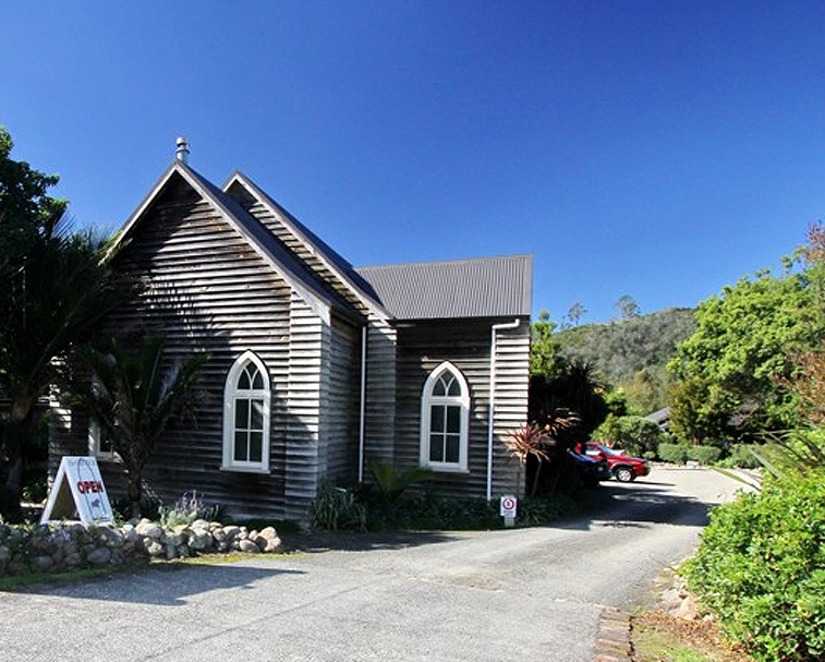 THE CHURCH BISTRO HAHEI   87 Hahei Beach Rd, Hahei   The Church Bistro is housed in the original church building from the early 1900's. You can expect to see simple, Kiwi style, European inspired food, plus seasonal and regular specials.