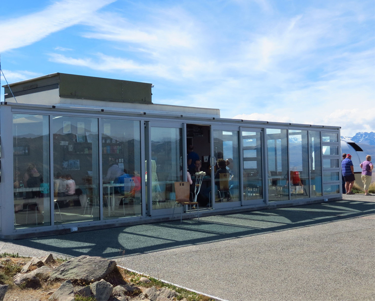 ASTRO CAFE   Godley Peaks Rd, Lake Tekapo   Up at Mt John observatory – the $8 road fee is worth it for the views alone!