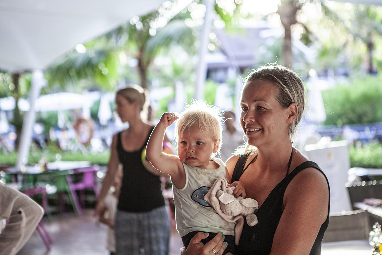Resa med barn Thailand