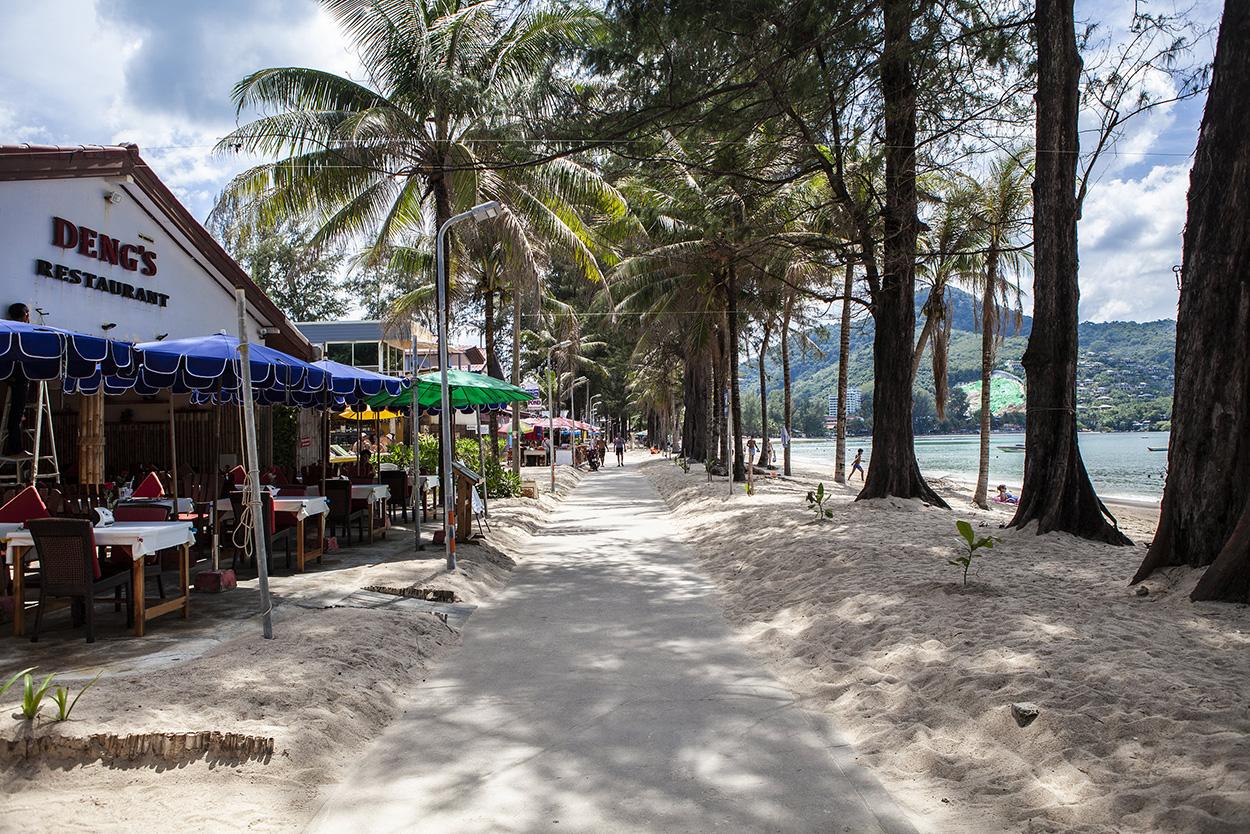 Kamala Beach street Thailand