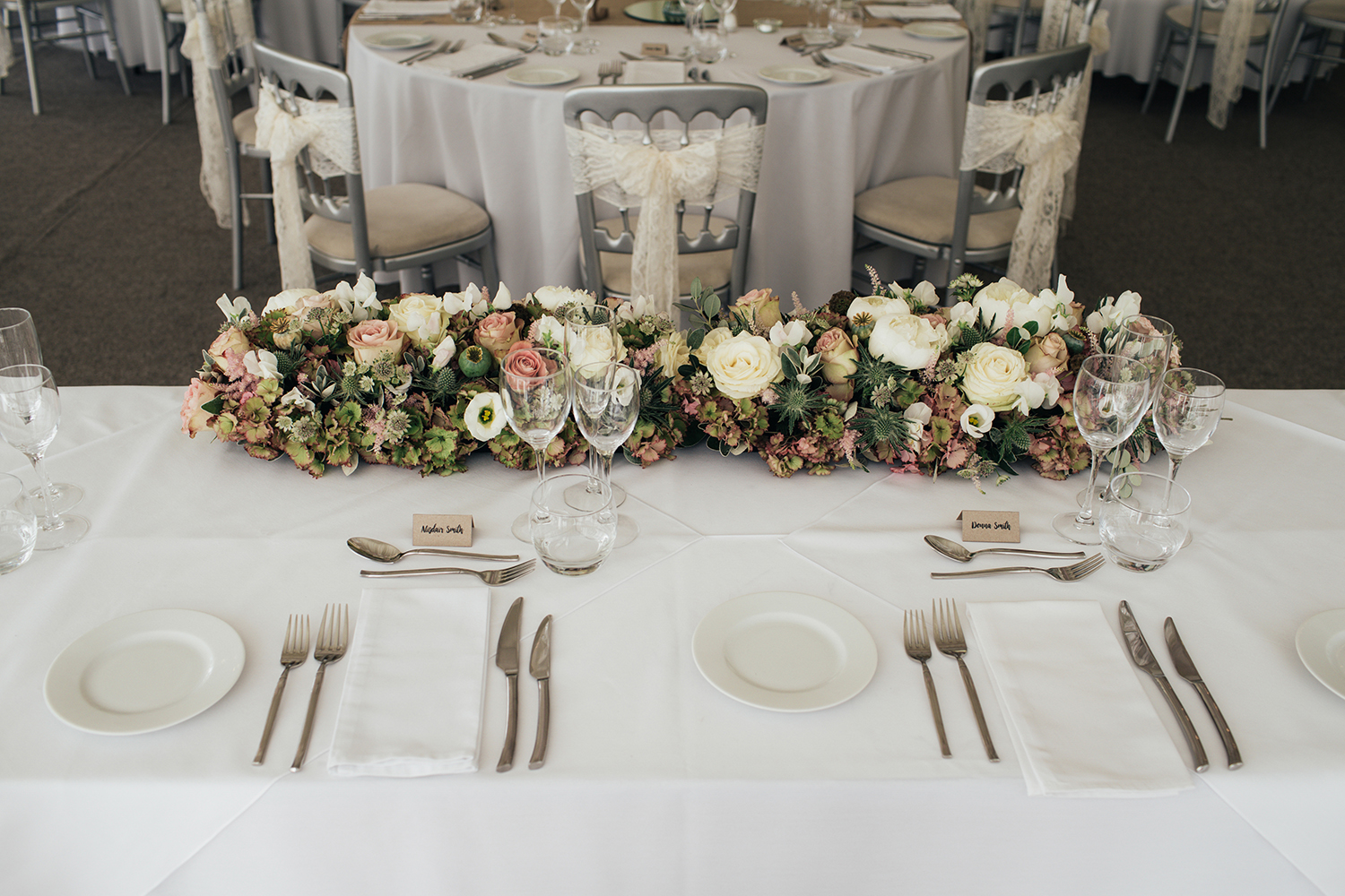 Top table place settings