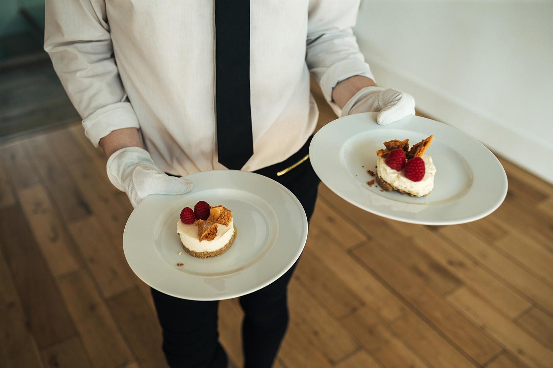 Wedding desert being served
