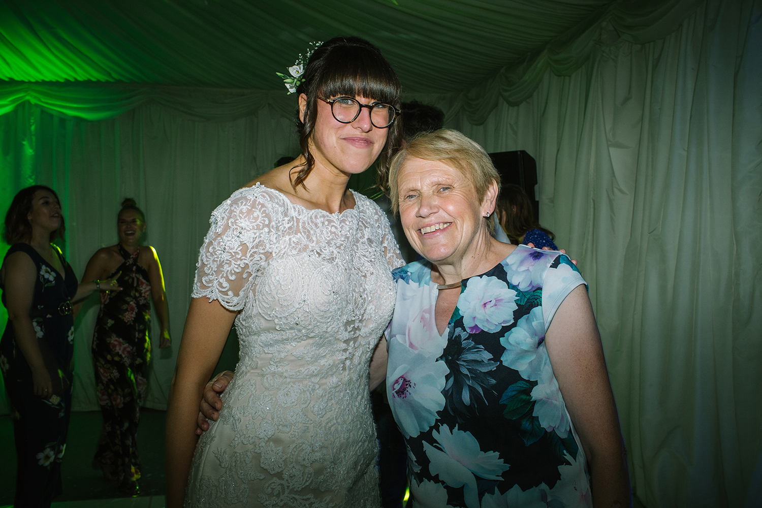 Bride and her mother on the dance floor