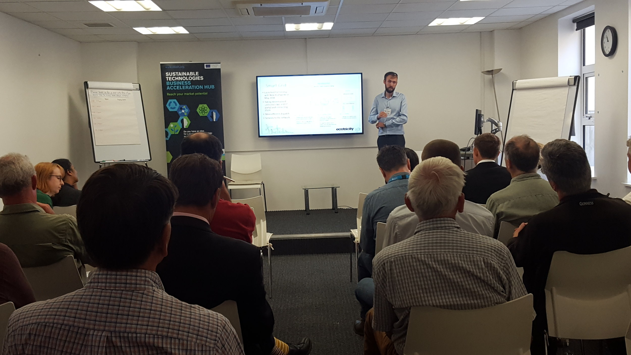 Peter Dennis from Ecotricity presenting at the STBAH Energy Systems workshop
