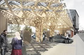Hewitt Studios K:Port- electric vehicle charging hub