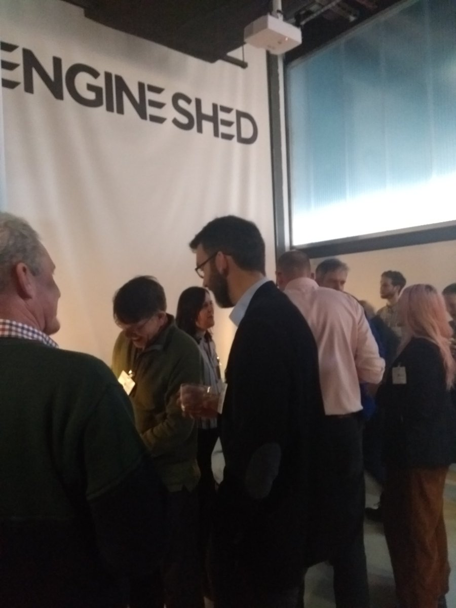 Attendees and speakers network and engage following very thought provoking keynotes at the STBAH Designing out Waste and Pollution event.