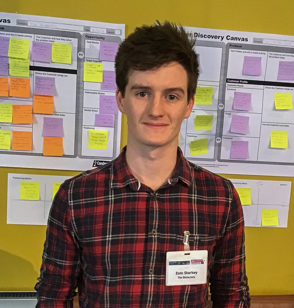 Eoin Sharkey, founder of The Bio Factory. SETsquared Bath and STBAH member, has secured a place on the final of the Santander Universities Entrepreneurship Awards.
