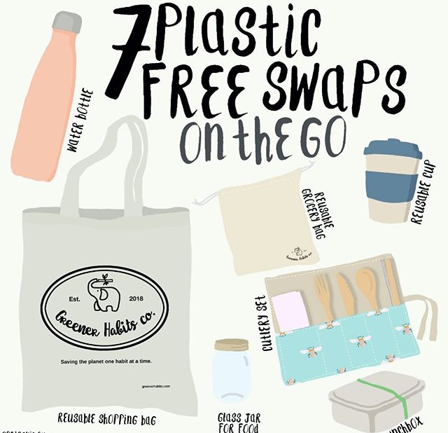 Breaking all the rules here, posting our final #plasticfreejuly post in August 🤣 The thing is, creating a shop from almost all second hand and dumped materials is taking up literally all of my time. So please forgive me for a lack of content and slowness 🤪 🌱 Here is what should have been week 4's post-  This week is all about plastic swaps we can make for on the go. These are items which are quickly becoming my day bag staples. I'm never seen anywhere without my reusable bottle. I use it for water, juice and even smoothies. My cutlery set has my bamboo cutlery, a tea spoon and my bamboo & glass straws to avoid disposable ones on the go. I love my reusable cup for hot drinks, wine and even a cocktail on occasion. And have a grocery bag in the mix is great for last minute purchases of anything from fruit, bread, or even soap bars on the go is a simple yet effective one. 🌱 One thing I always mean to carry, but do often forget is a container for food- either Tupperware or a simple glass jar will do. This is definitely the area I need to solidify that Greener Habit in! Then of course you'll need some form of bag to carry it all around in. A luxury shopper bag works perfectly as they are big and strong, but still lightweight 😁 What are your on the go essentials? Any other ways we can avoid creating waste on the go?