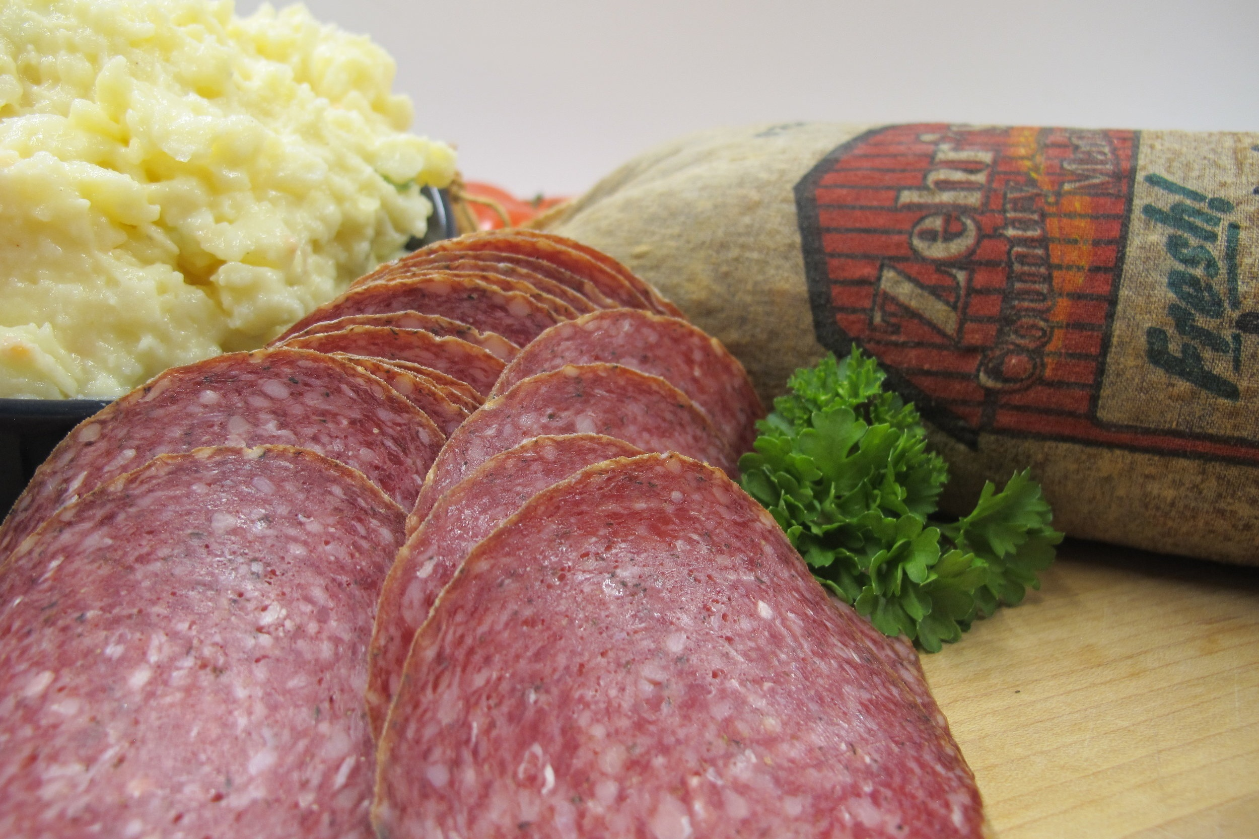 Summer Sausage - Homemade summer sausage! Sliced fresh or available by the stick