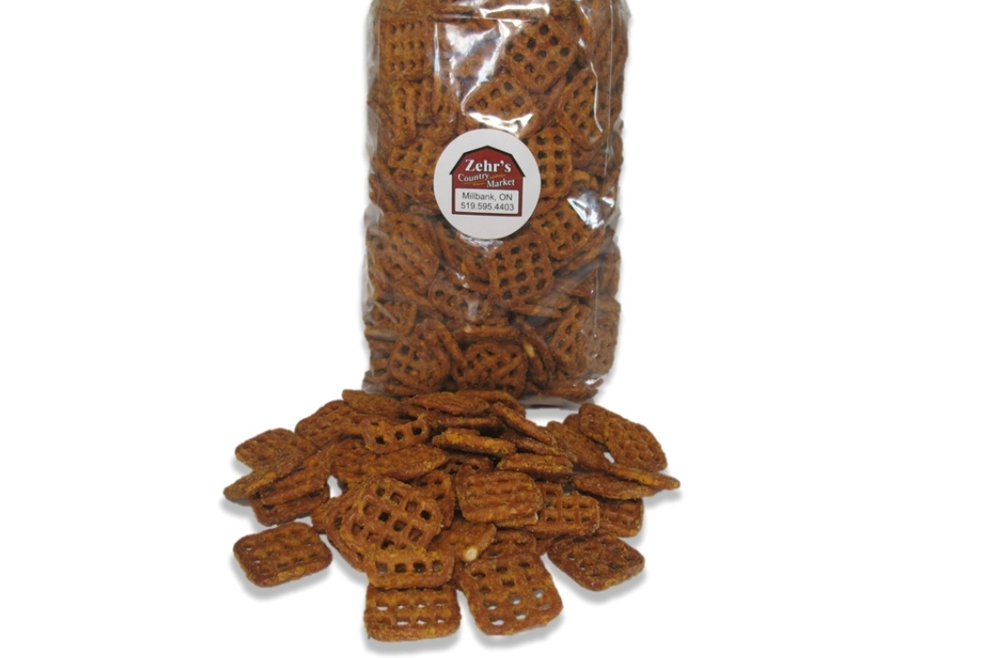 Cheddar Ranch Pretzels - Take snacking to a New Level! Try Zehr's in house seasoned pretzels.