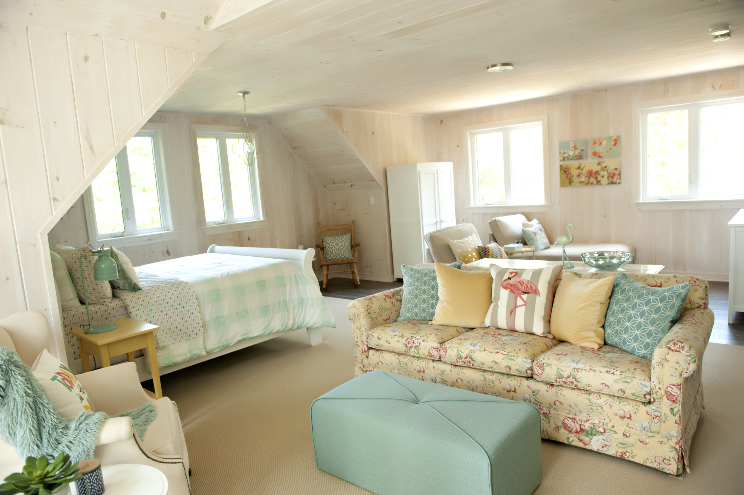 Candace-Plotz-Design-Beach-House-1-Project-Bed-and-Sofa-Yellow-Pastels-Wood