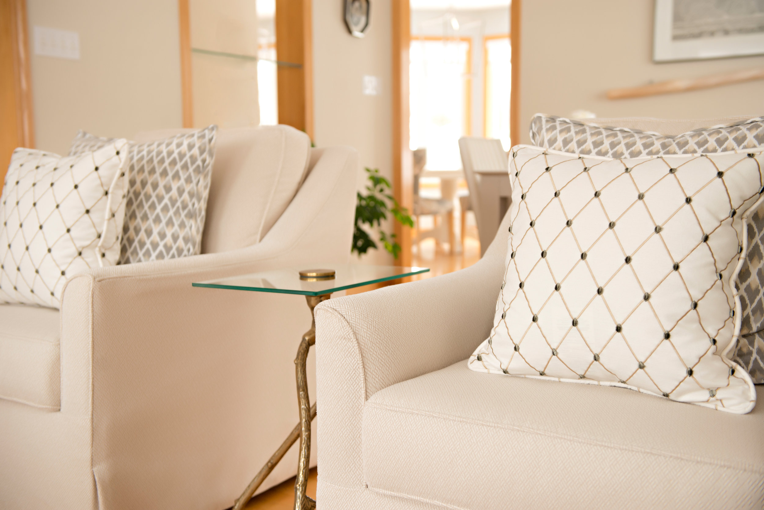Interior-Design-Cedar-Brae-Project-Chairs-Pillows-Beige