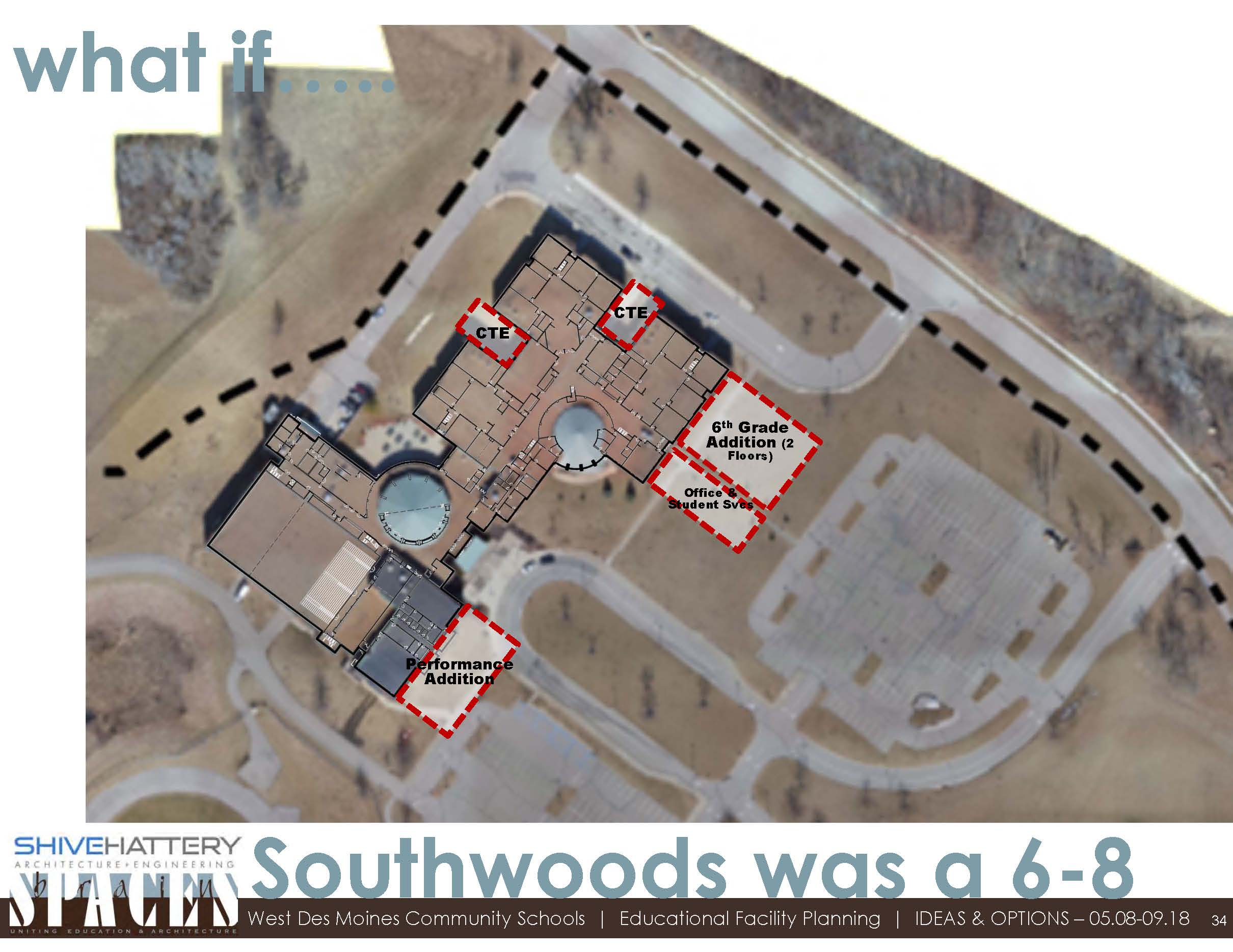 Valley Southwoods Option  This graphic outlines a how Valley Southwoods Freshman High School could be transitioned to a 6-8 building   Click on the graphic to view full image.