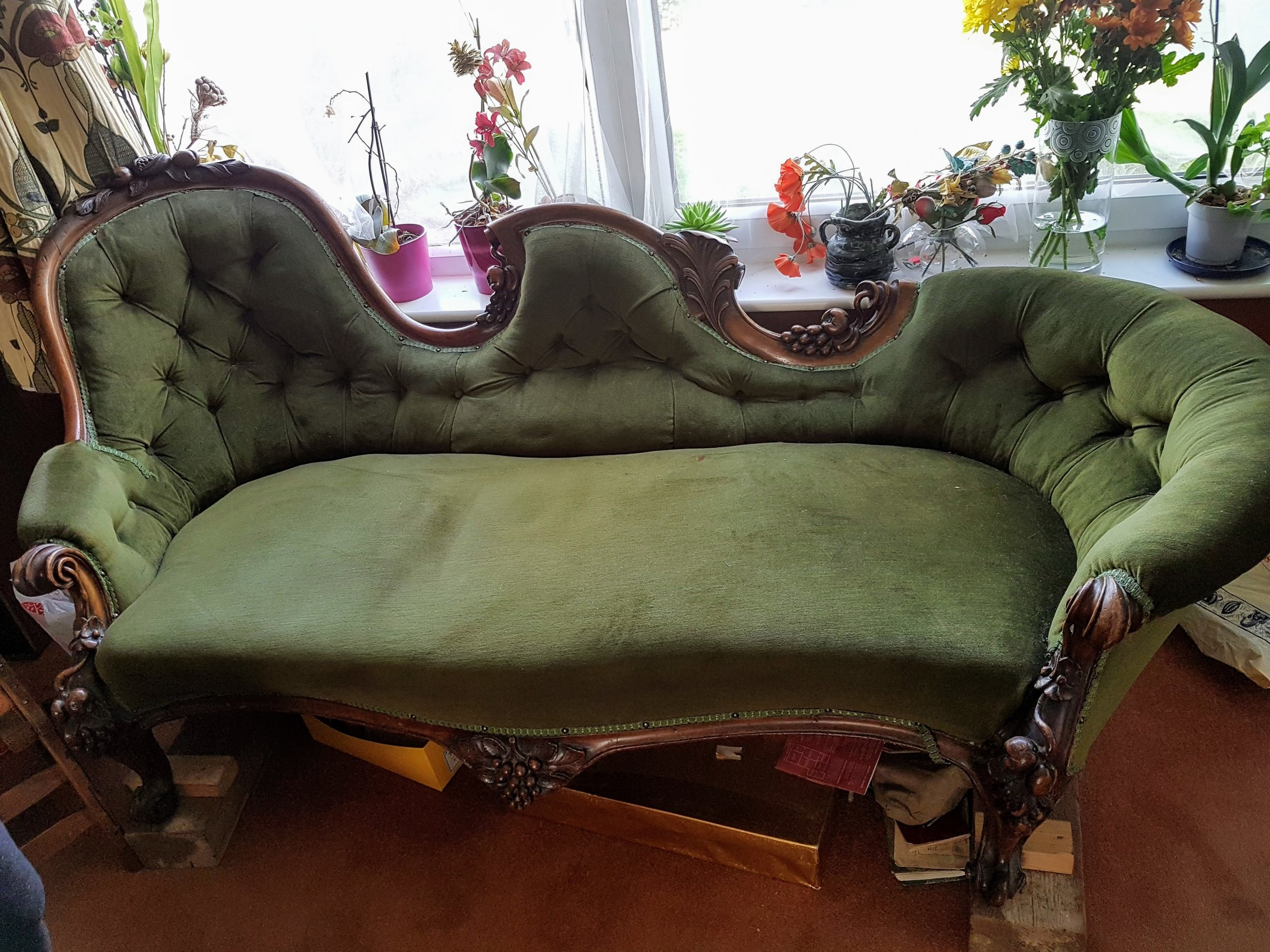 19th Century French Chaise - Before