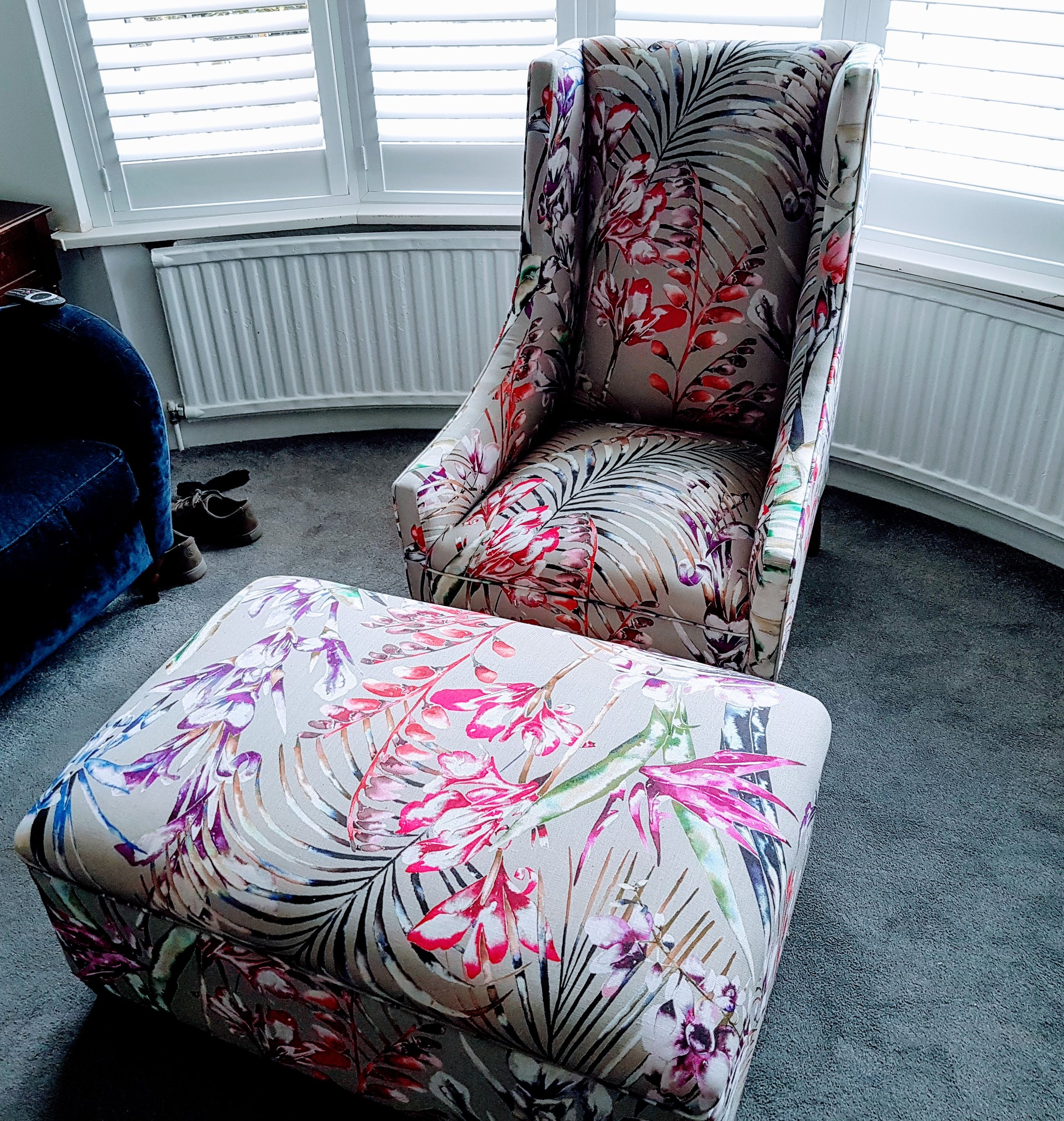 Antique Chair with Footstool - After