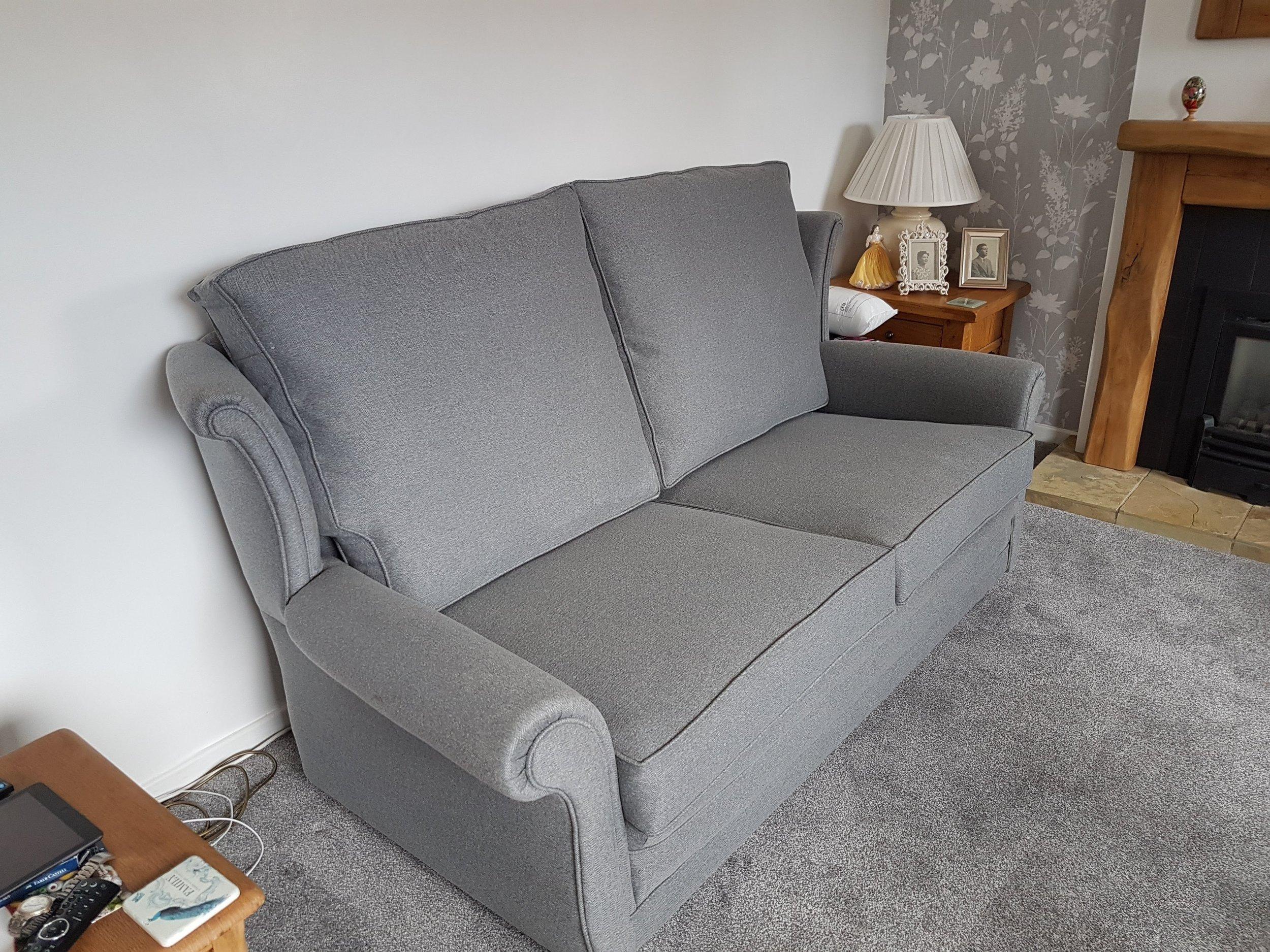 3 Cushion to 2 Cushion Sofa - After