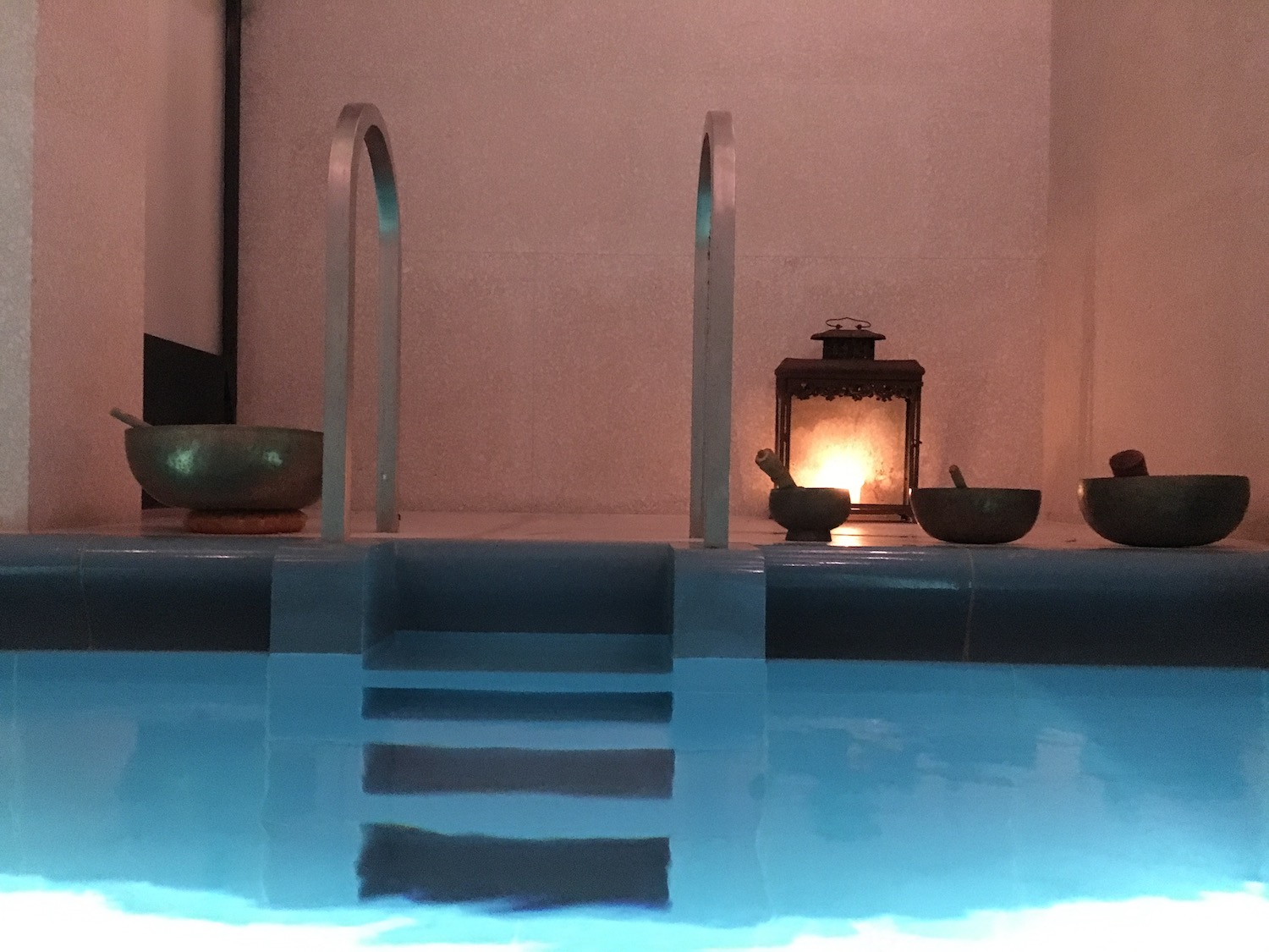 THERAPY POOL AT THE AKASHA SPA, REGENT ST. LONDON