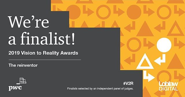 Excited to be named a finalist for @PwC_Canada #V2R Awards in The Reinventor category! We're honoured to be included in this group of talented Canadian innovators alongside @agropurcoop @BMO @Rogers @SunLifeCA 🇨🇦 🎉