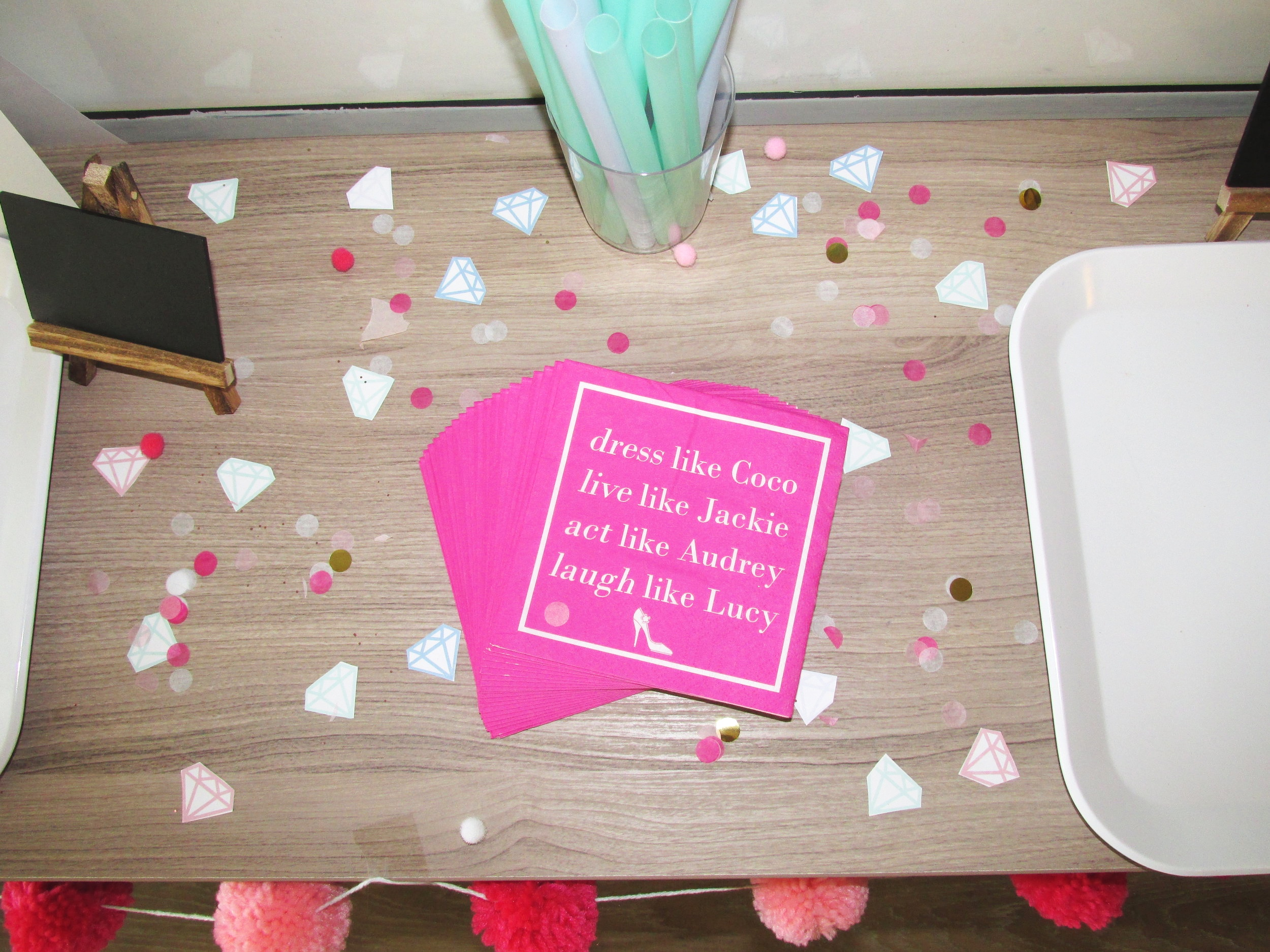 Pink And Pearls Bachelorette Party Decor Food Gifts And