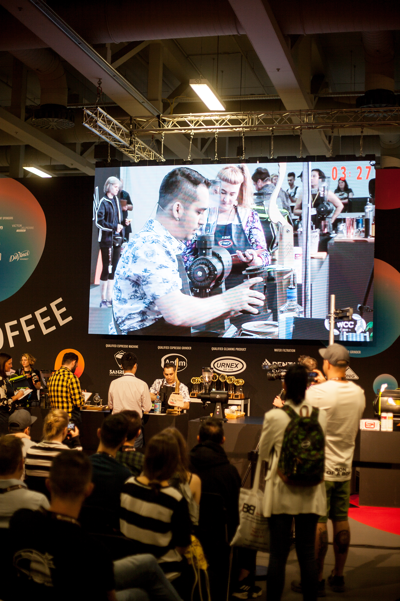 A lot of people at one of the four coffee championships