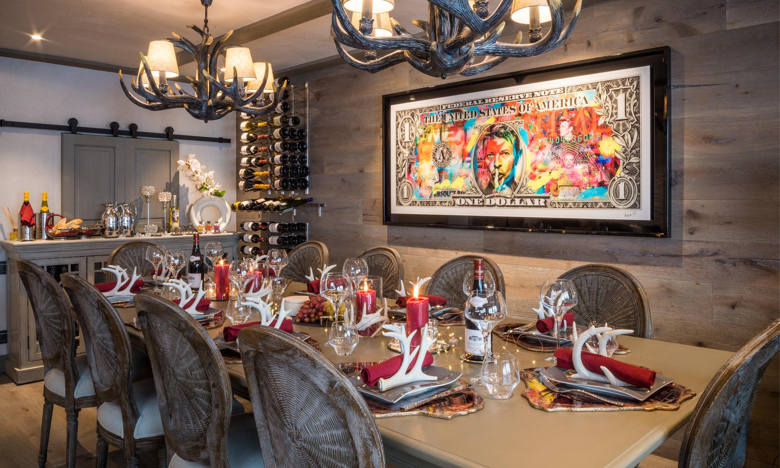 Courchevel Luxury rental elegant atmosphere