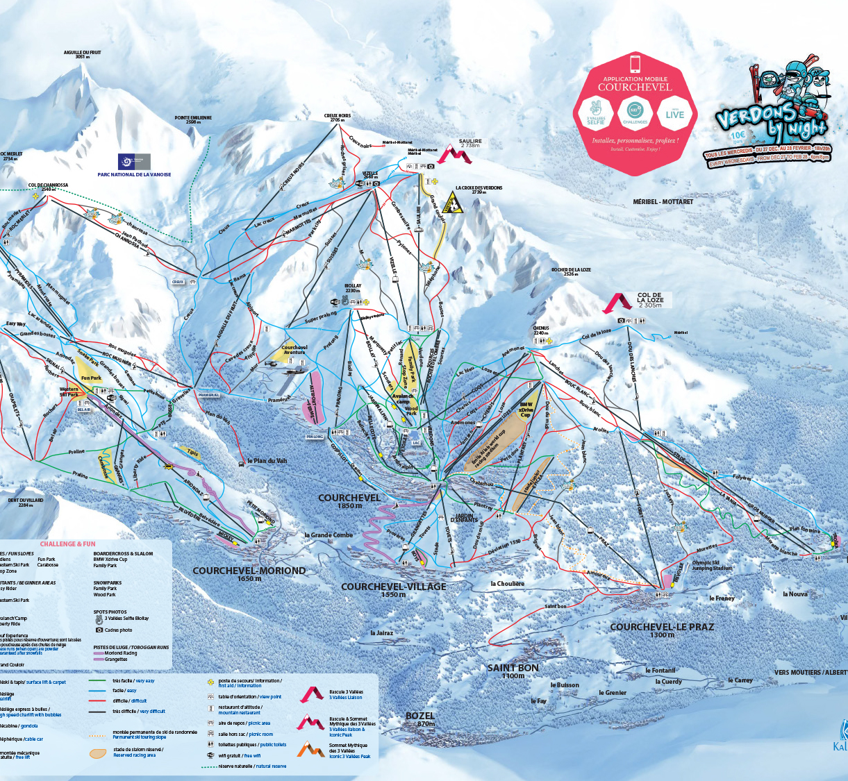 Courchevel Slopes Map (click to download PDF)